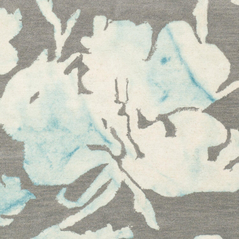 Florida Gray Turquoise Area Rug: Safavieh Dip Dye Gray/Turquoise Area Rug & Reviews