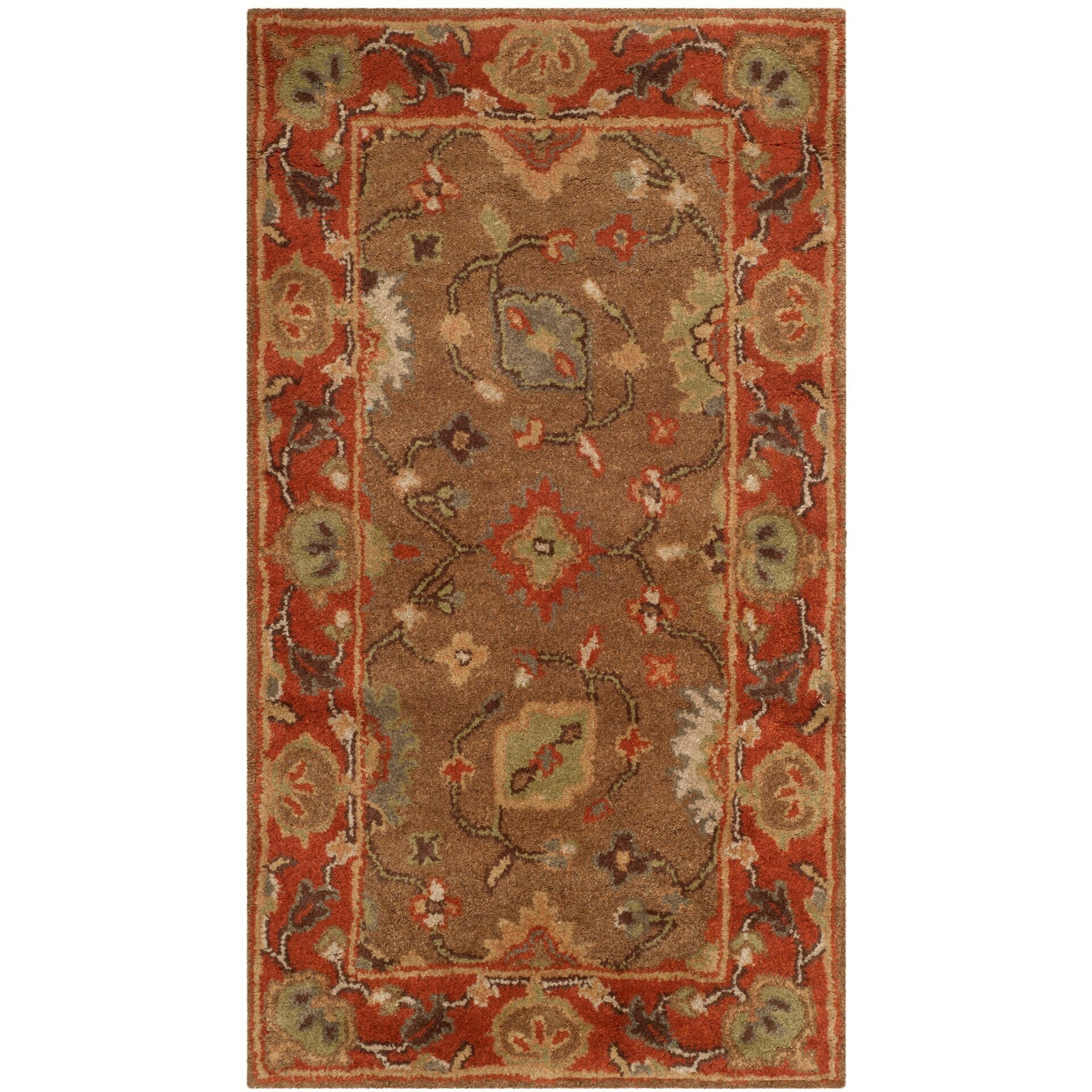 safavieh heritage moss rust area rug reviews wayfair