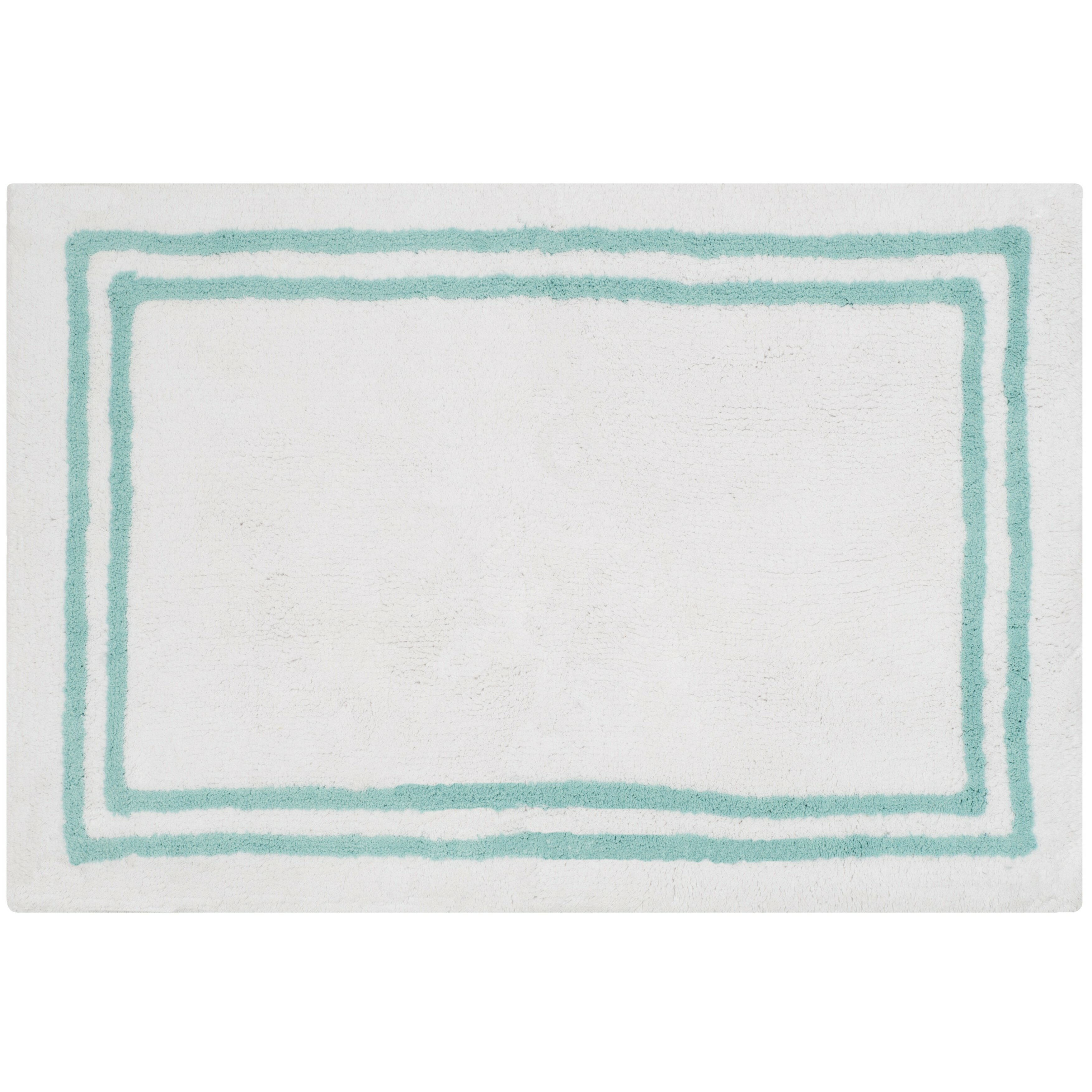 Safavieh plush master bath aqua area rug wayfair for Master bathroom rugs