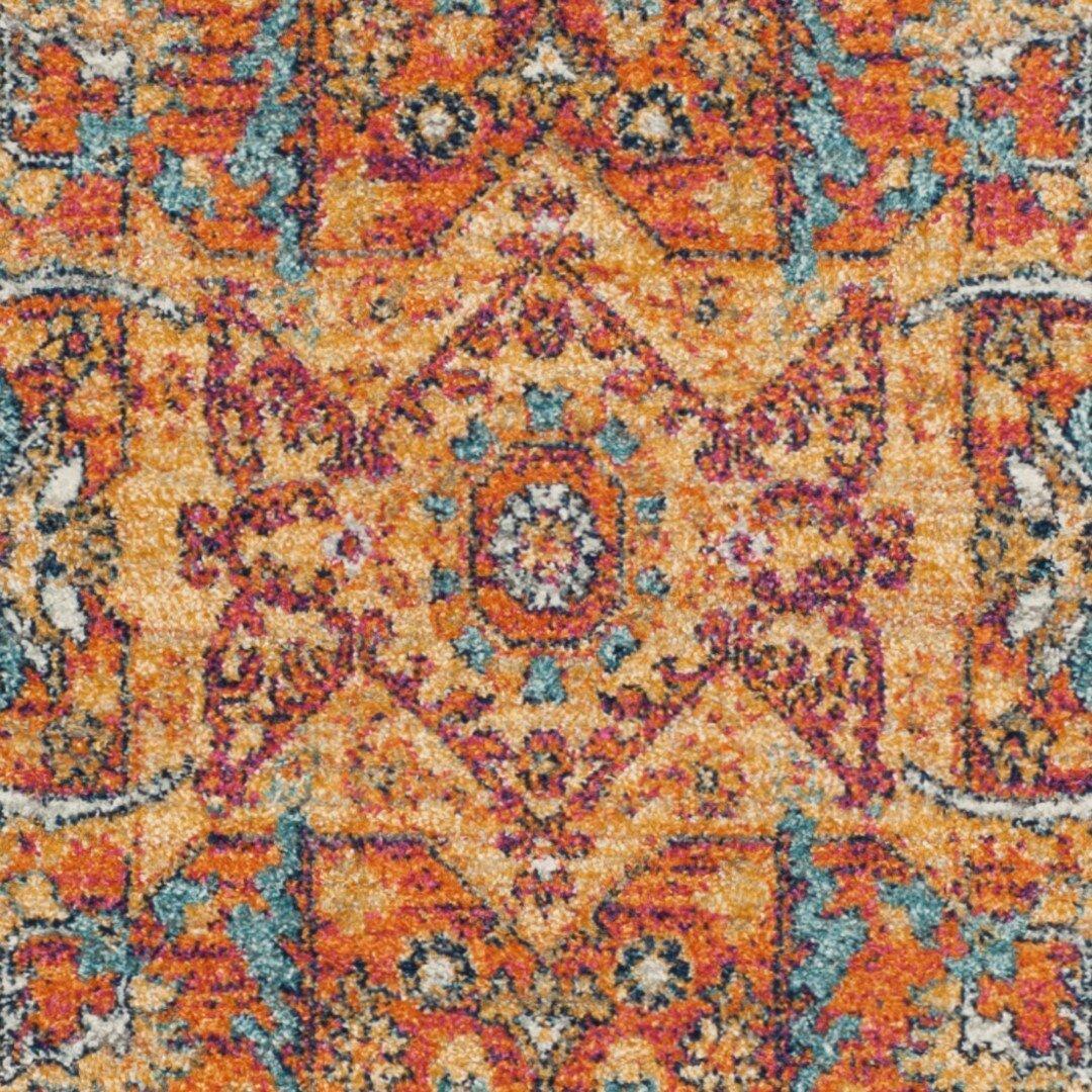 Safavieh Evoke Blue/Orange Area Rug & Reviews