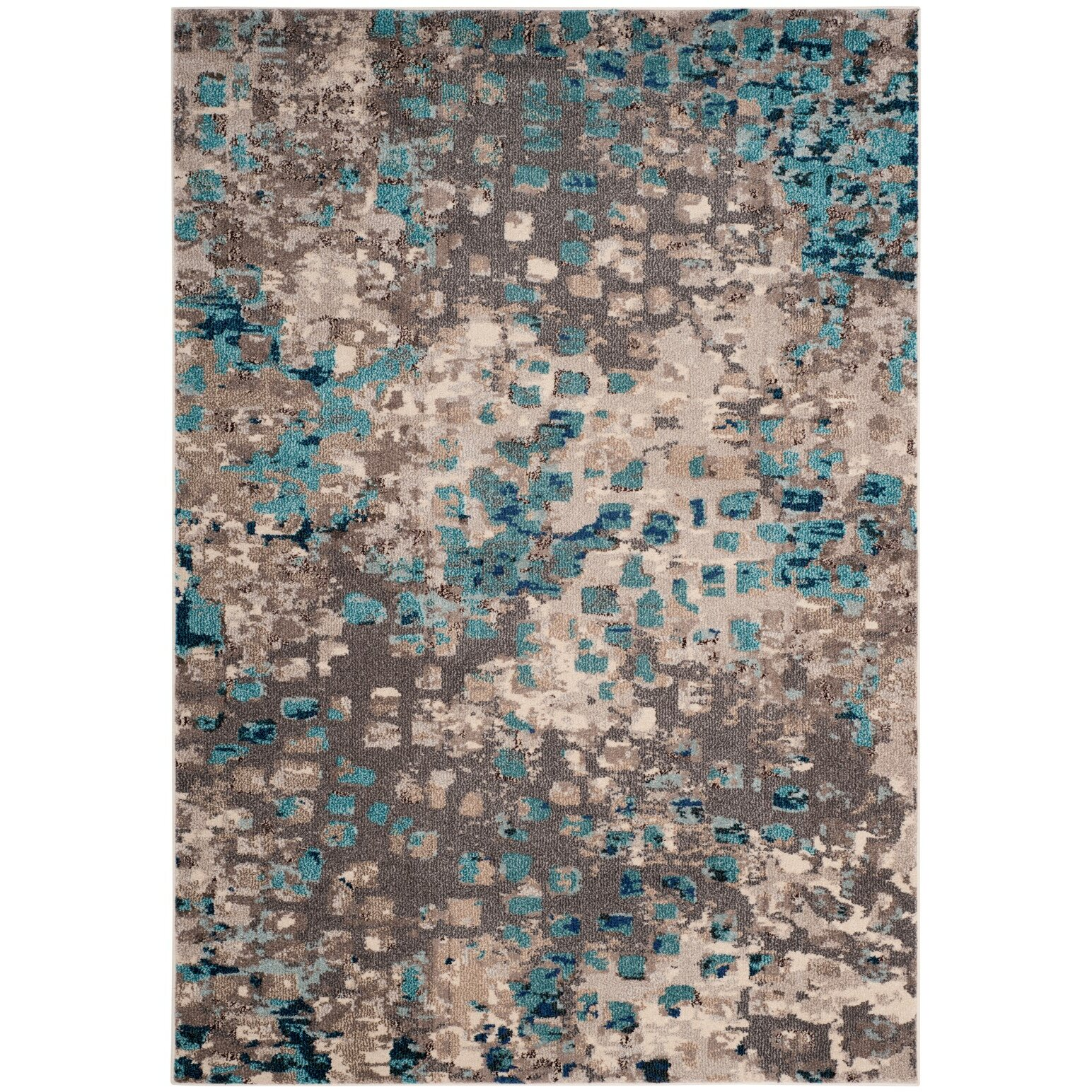 Safavieh Monaco Gray/Light Blue Area Rug & Reviews