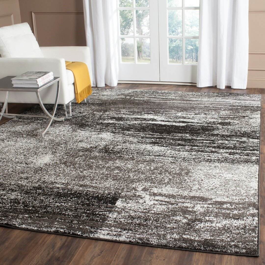 Safavieh Adirondack Black Silver White Area Rug Amp Reviews