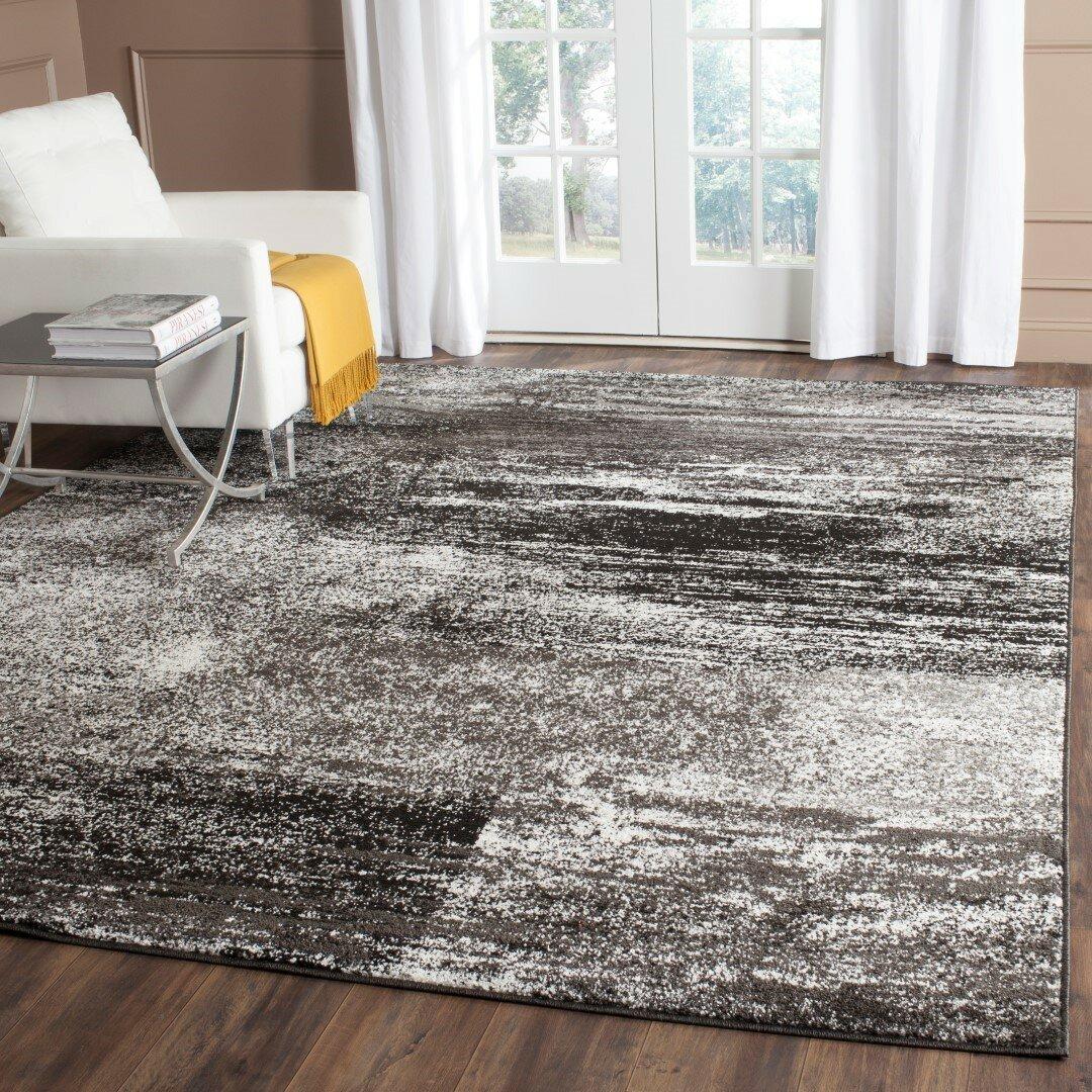 Dark Silver Rug: Safavieh Adirondack Black, Silver/White Area Rug & Reviews