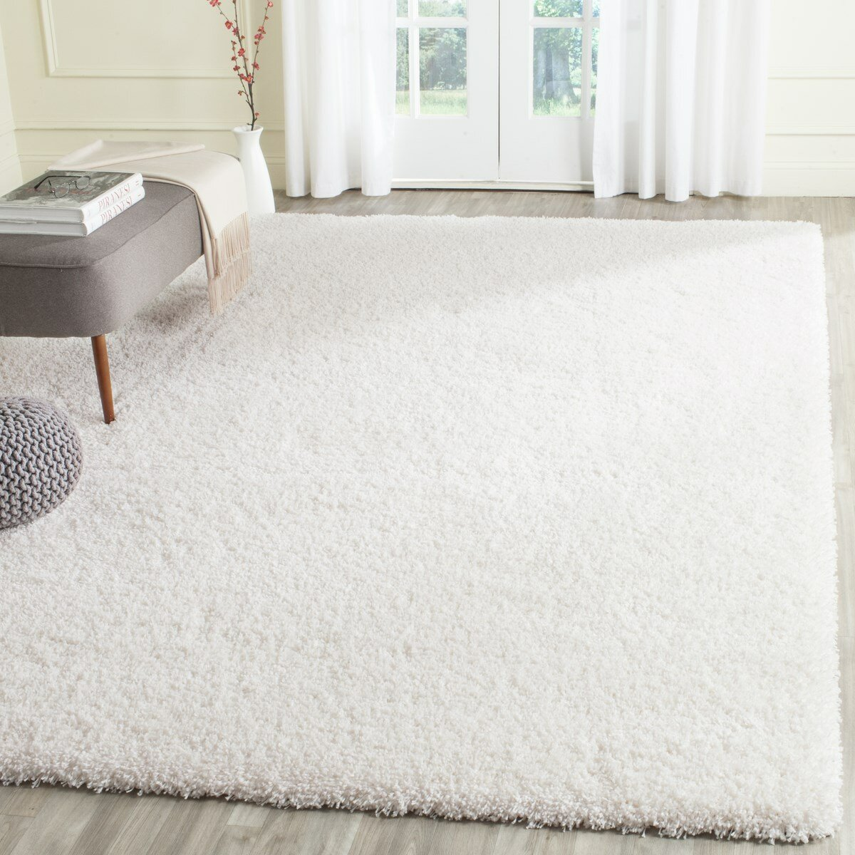 Safavieh Shag White Area Rug Amp Reviews Wayfair