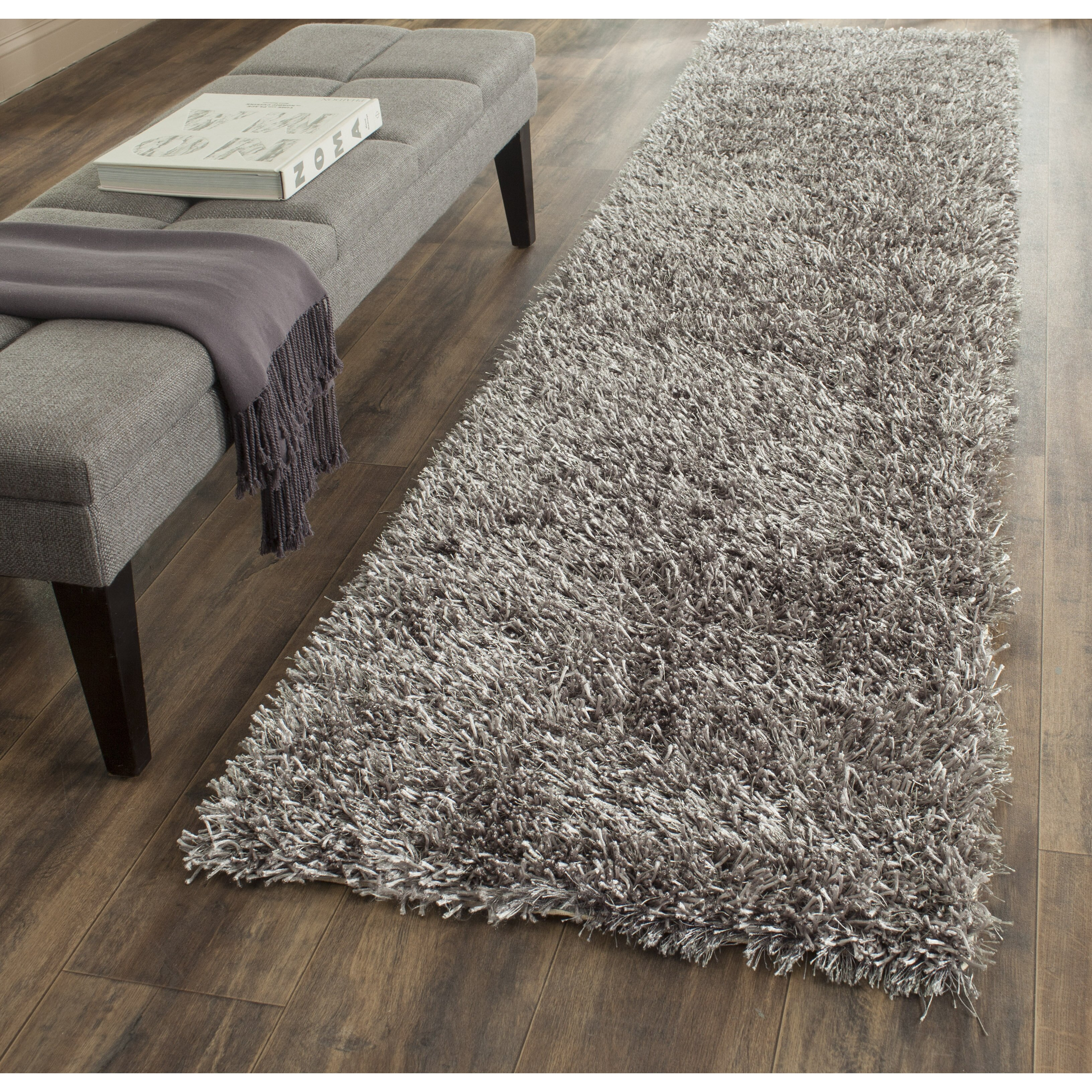 safavieh paris shag grey area rug reviews wayfair. Black Bedroom Furniture Sets. Home Design Ideas