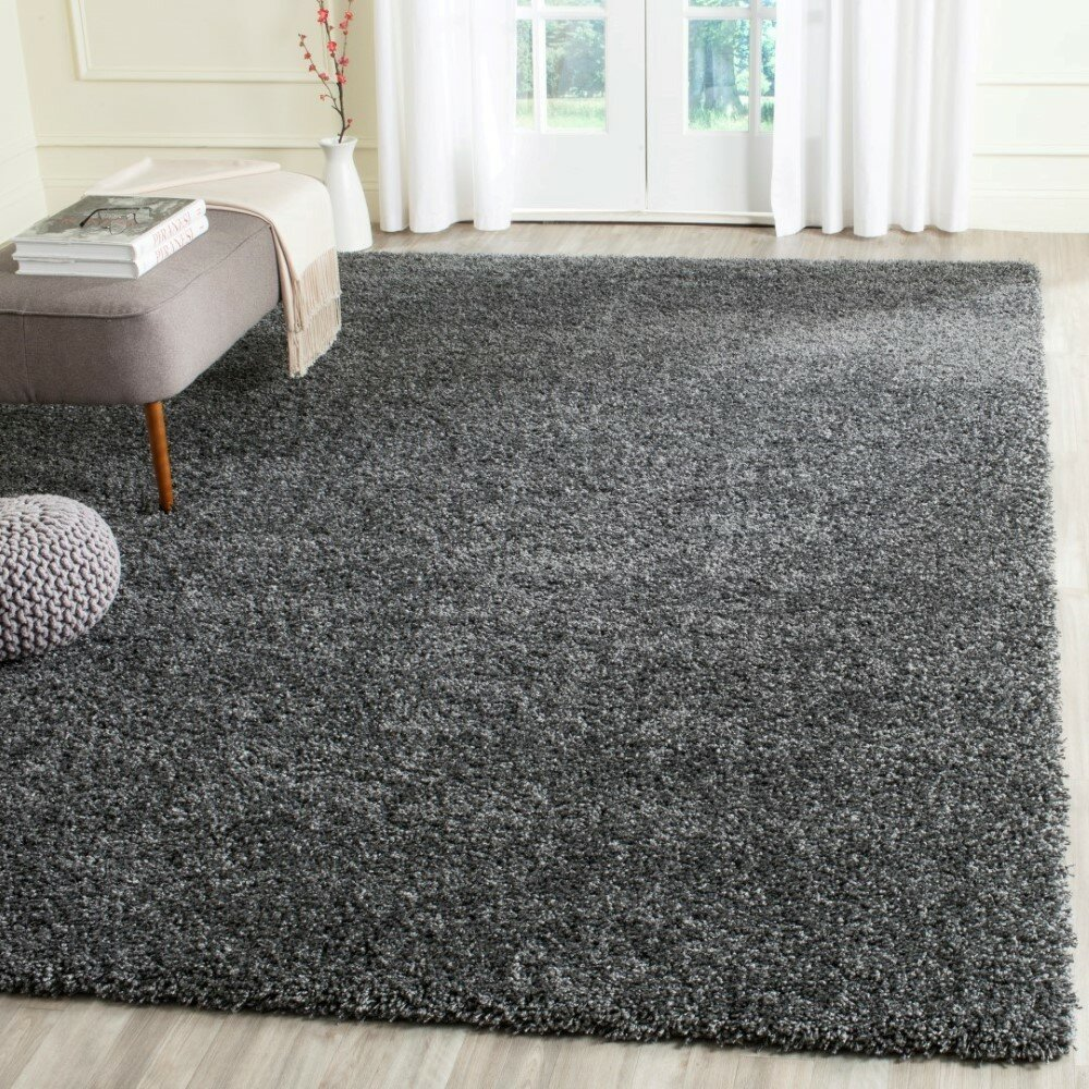 Safavieh Shag Handmade Dark Grey Area Rug Amp Reviews