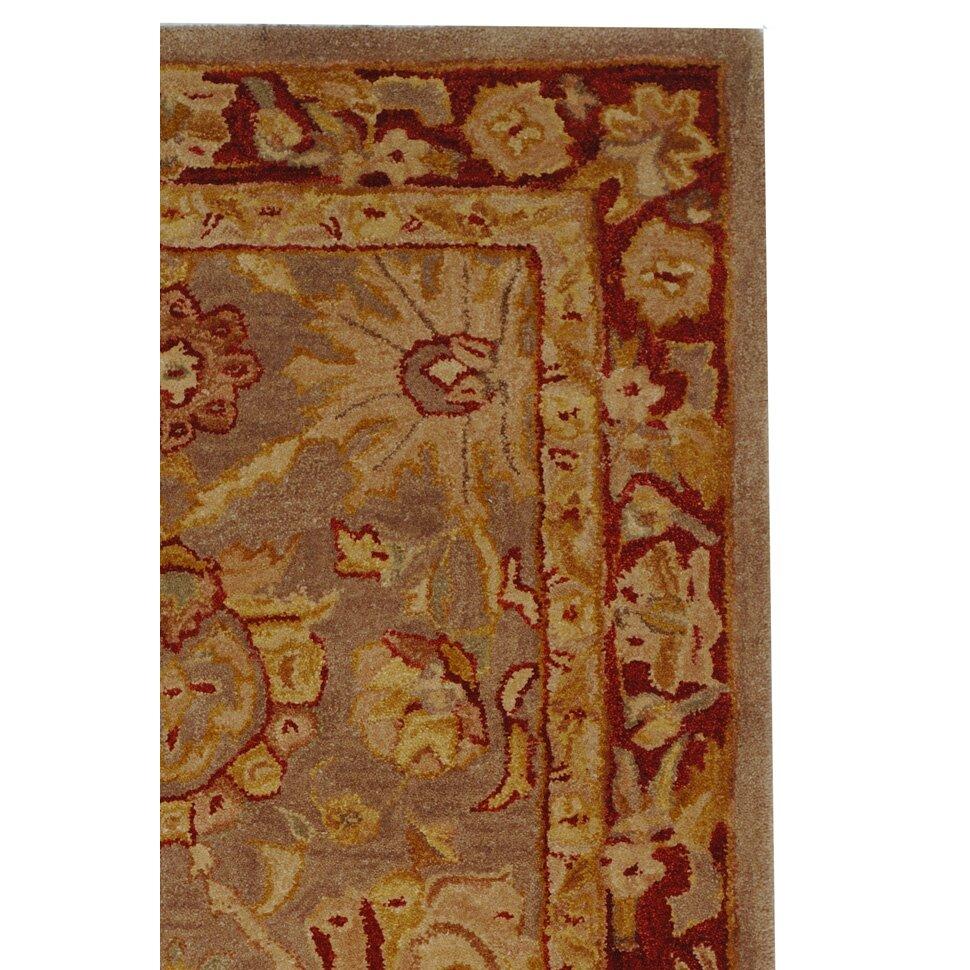 safavieh anatolia grey red area rug reviews wayfair. Black Bedroom Furniture Sets. Home Design Ideas