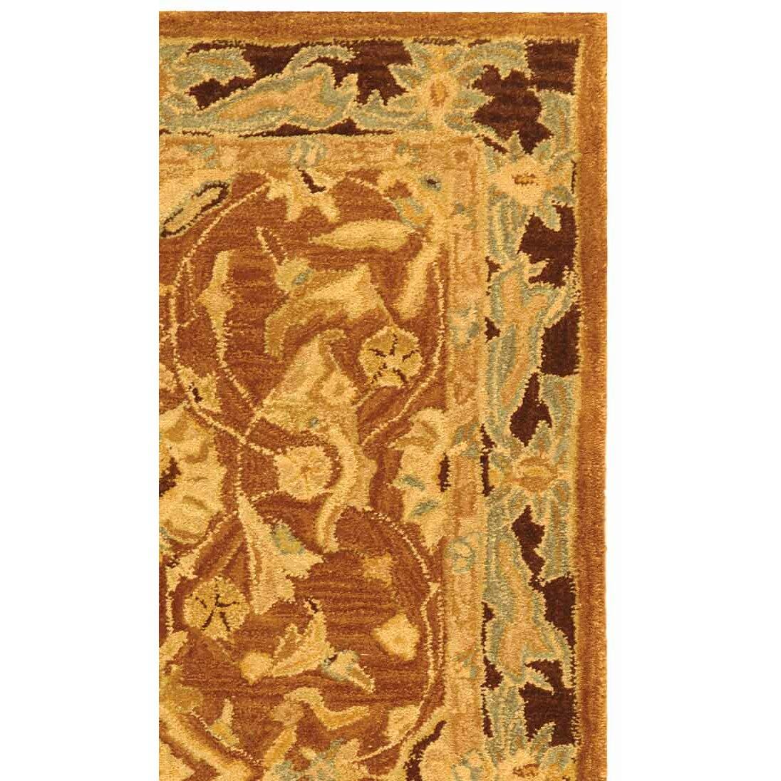 Shop Safavieh Handmade Impressions Rust Wool Rug - …