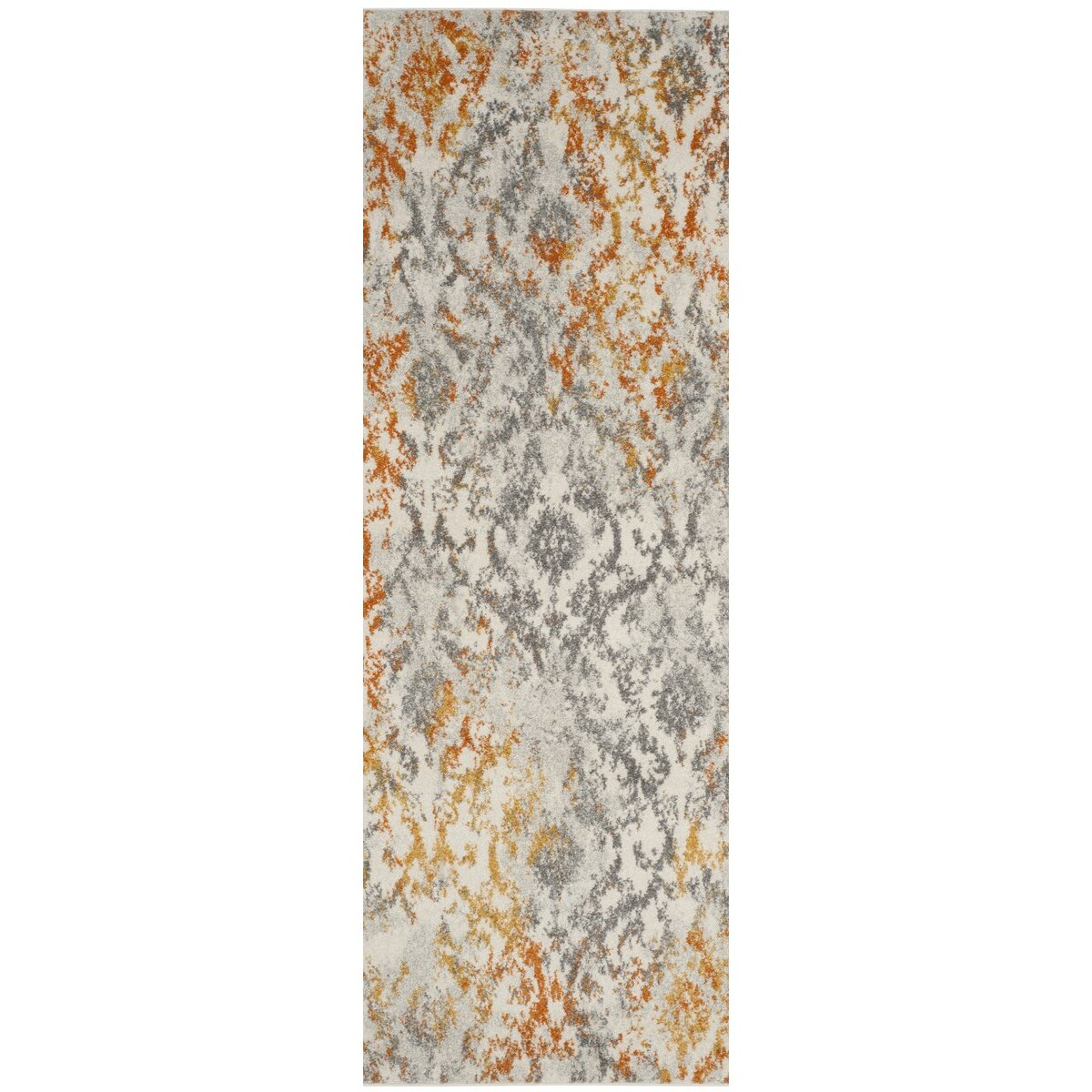 Safavieh Madison Gray Orange Area Rug Amp Reviews Wayfair