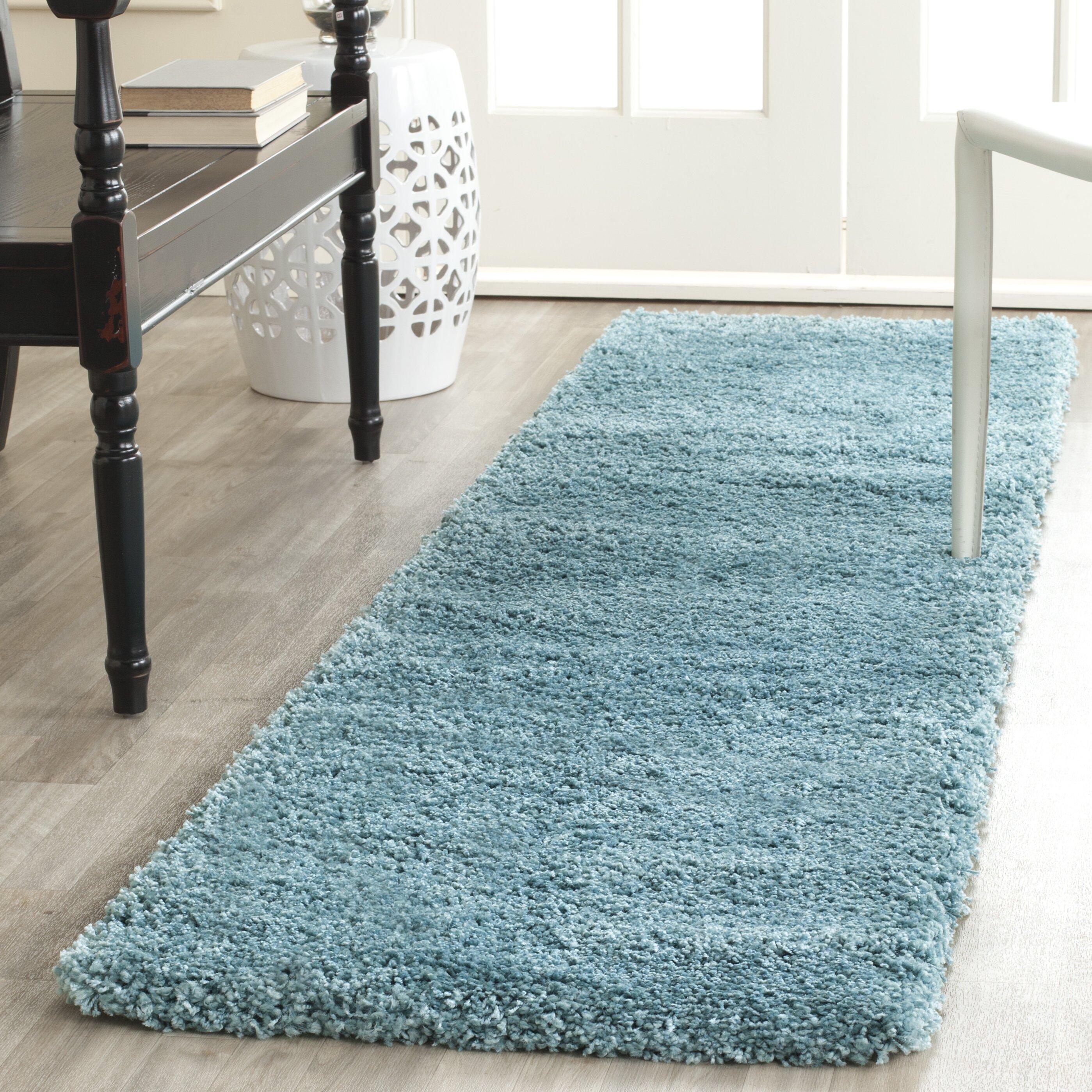 Safavieh Milan Shag Aqua Blue Area Rug & Reviews | Wayfair