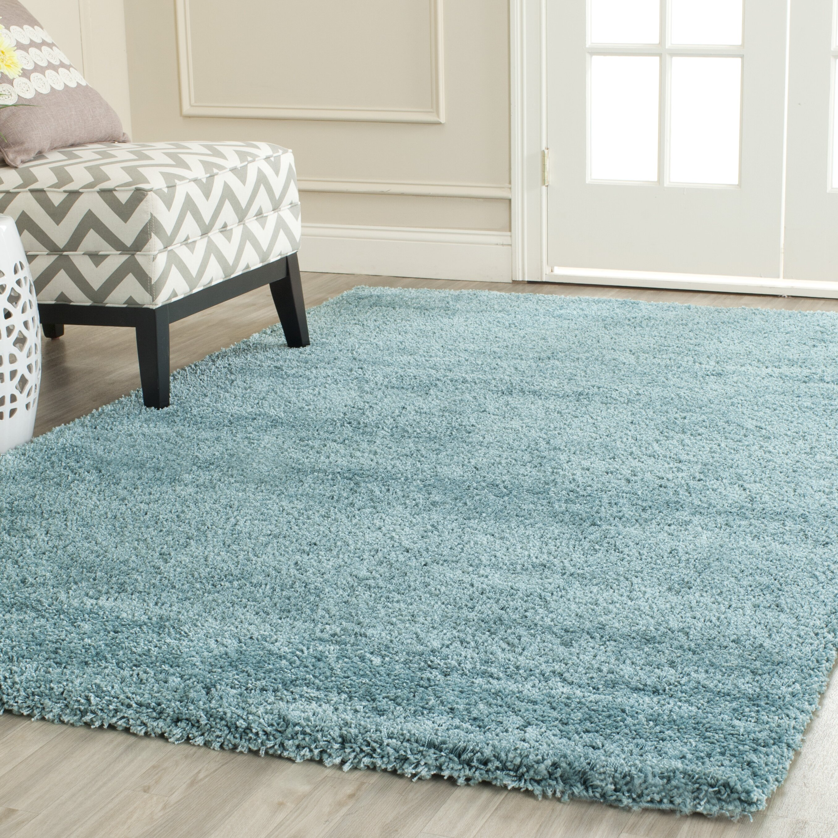 Safavieh Milan Shag Aqua Blue Area Rug Amp Reviews Wayfair