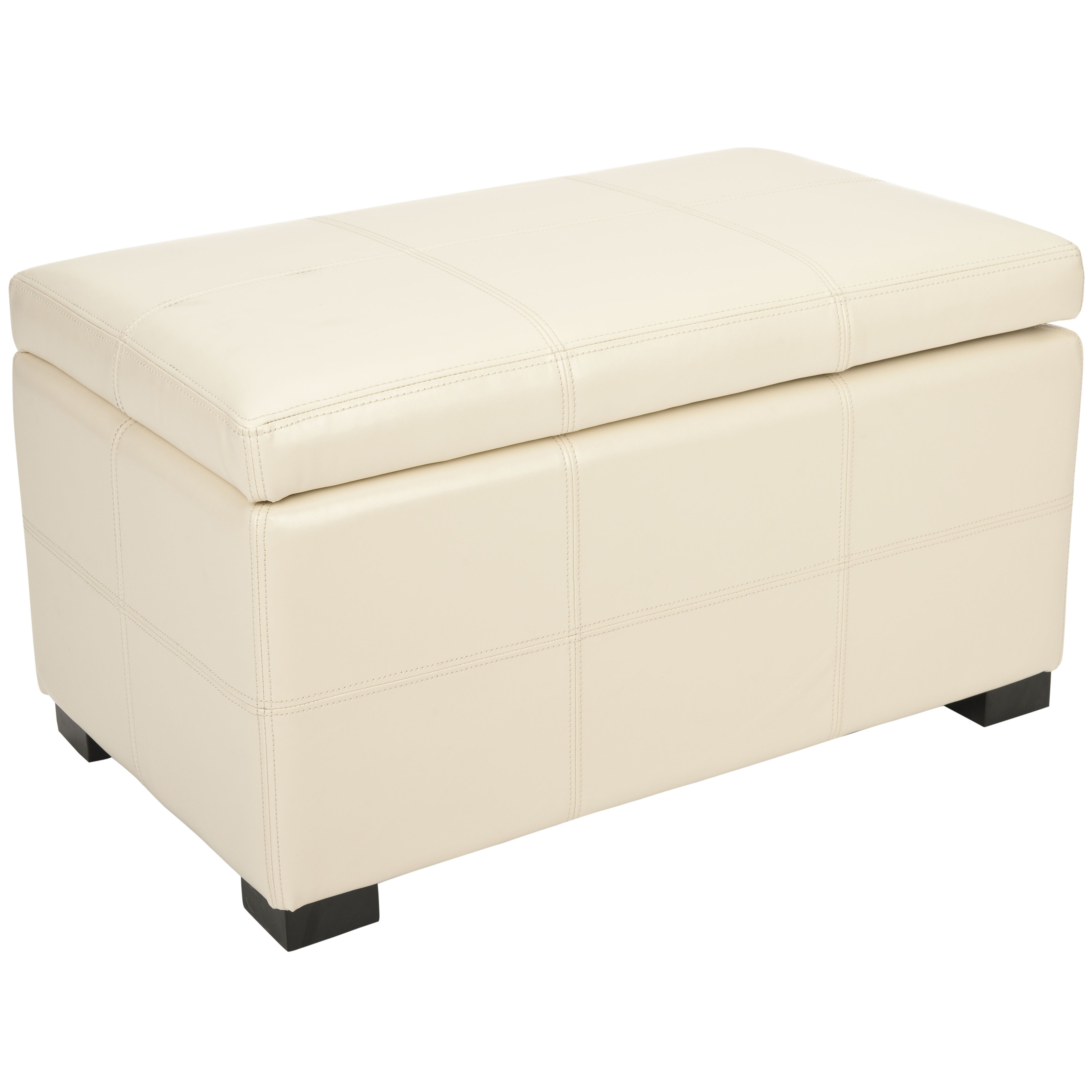 Safavieh Lucas Leather Bedroom Storage Ottoman & Reviews ...