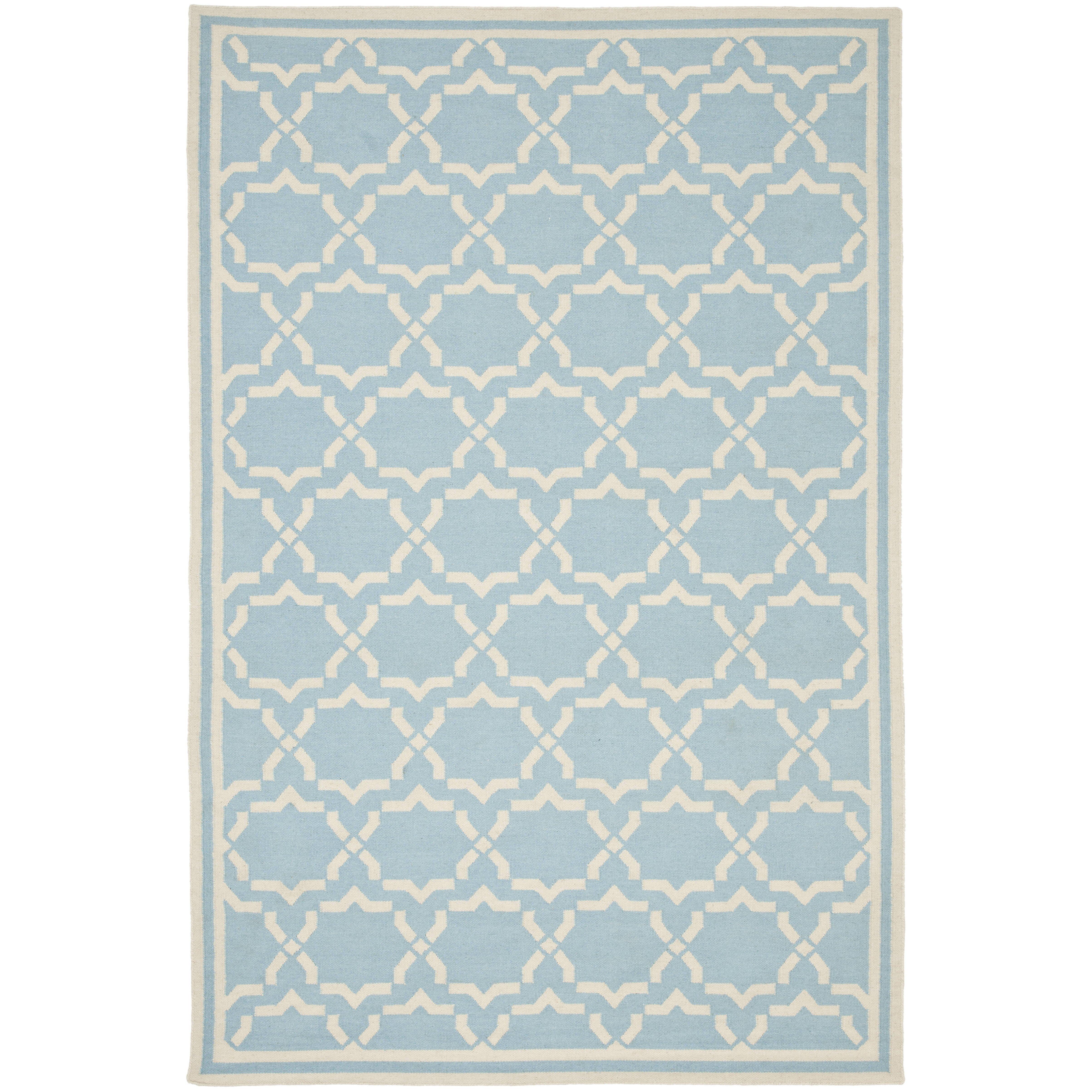 Safavieh Dhurries Light Blue Ivory Area Rug Amp Reviews