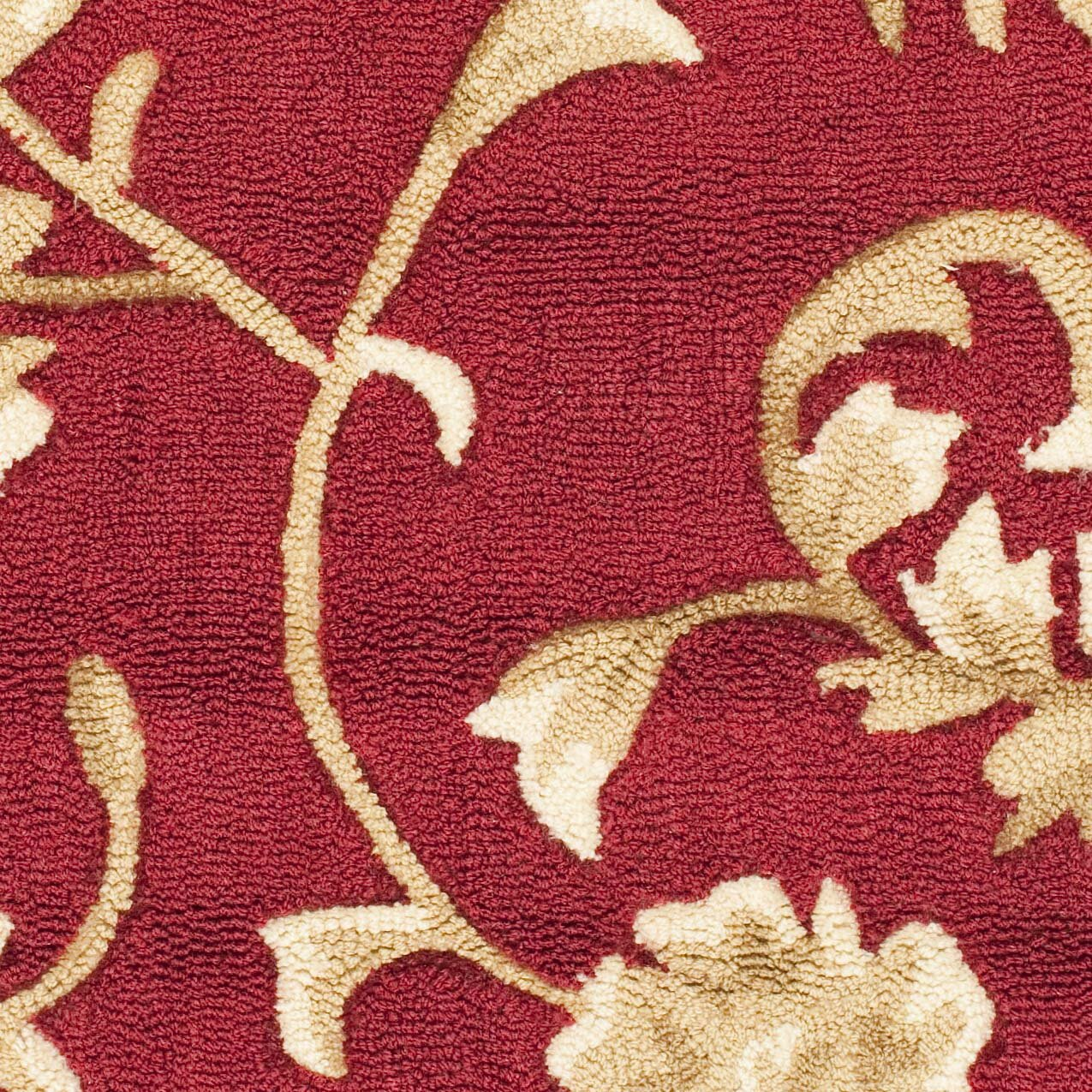 Safavieh duraarea rug red gold area rug reviews wayfair for Red and gold area rugs