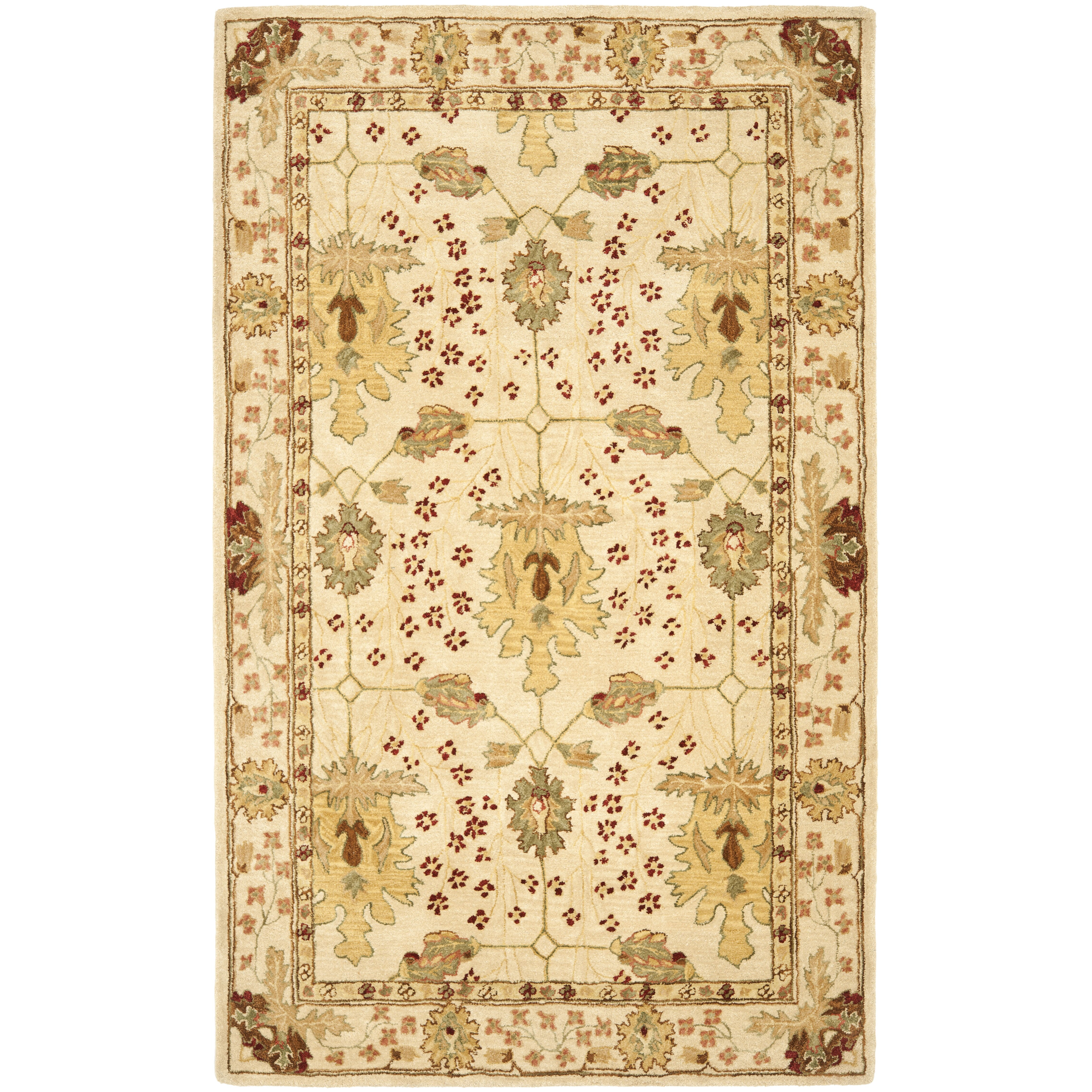 Safavieh anatolia cream red area rug reviews wayfair for Dining room rugs 9x12