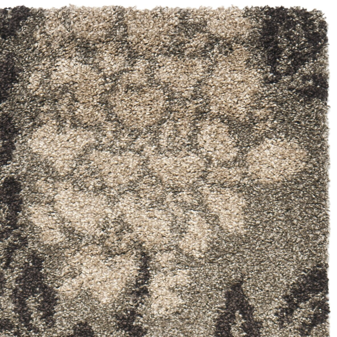 Oriental Rugs Jupiter Florida: Safavieh Florida Shag Smoke/Dark Brown Area Rug & Reviews