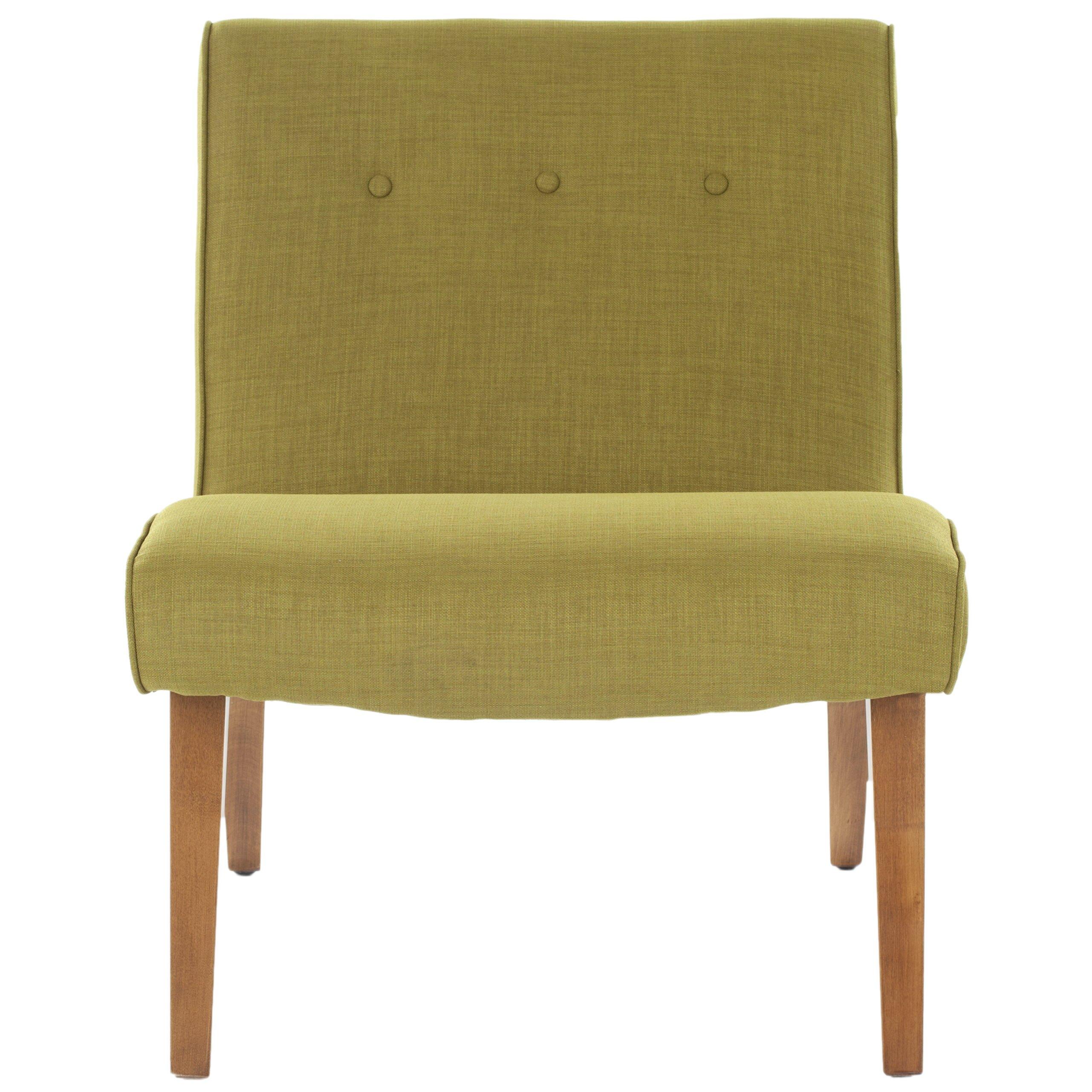 Safavieh mandell slipper chair in green reviews wayfair for Slipper chair