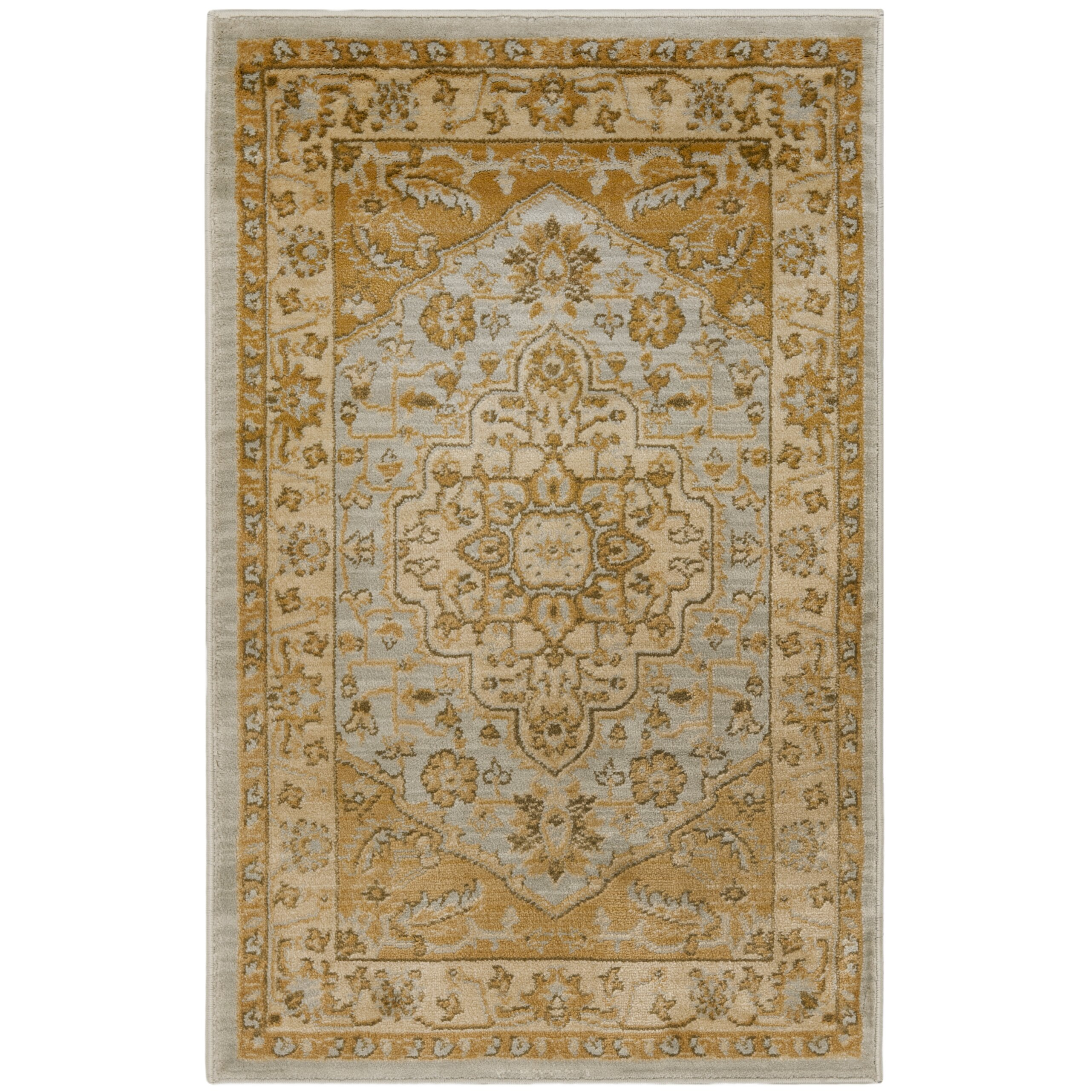 safavieh austin light grey gold area rug reviews wayfair. Black Bedroom Furniture Sets. Home Design Ideas