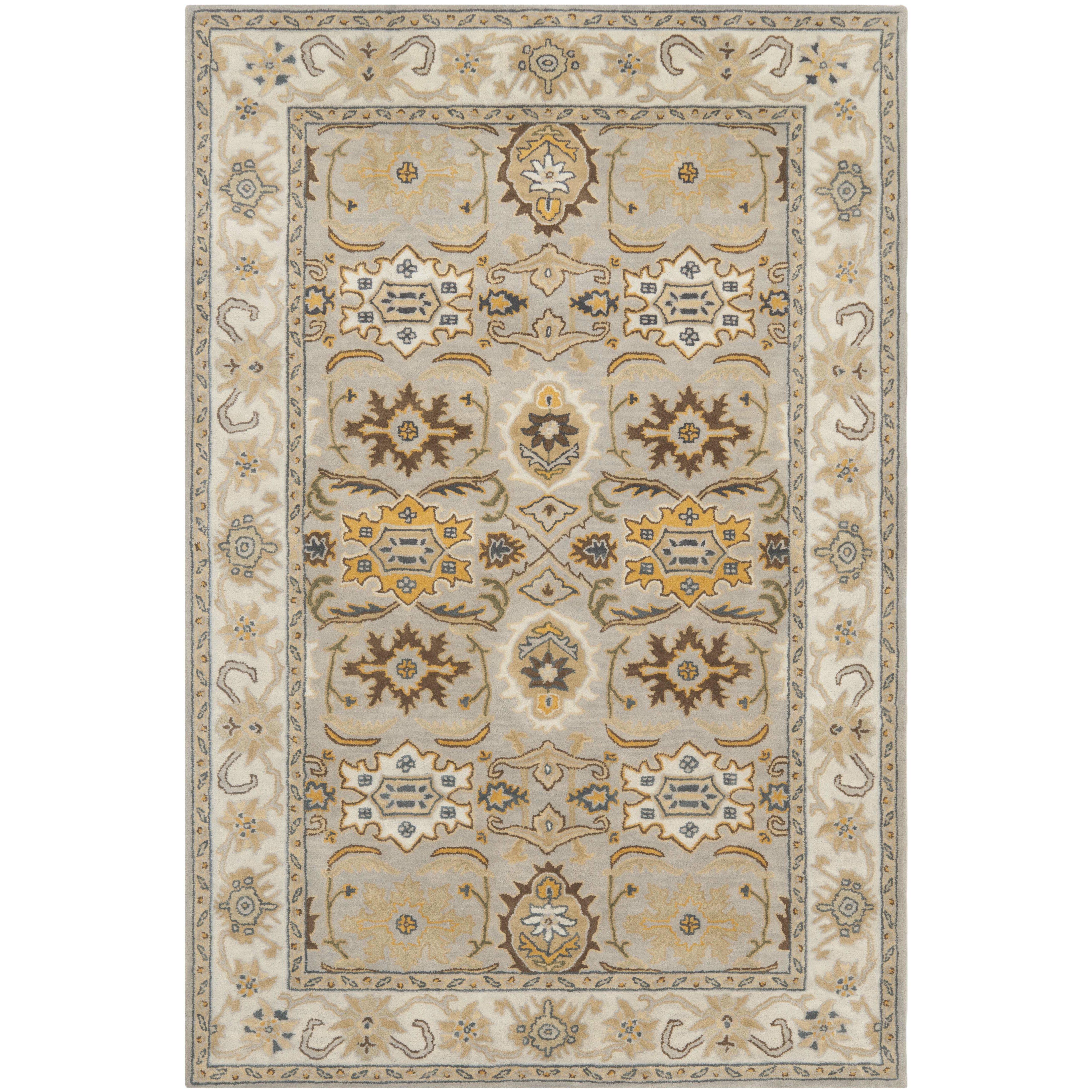safavieh heritage light grey black area rug reviews wayfair. Black Bedroom Furniture Sets. Home Design Ideas