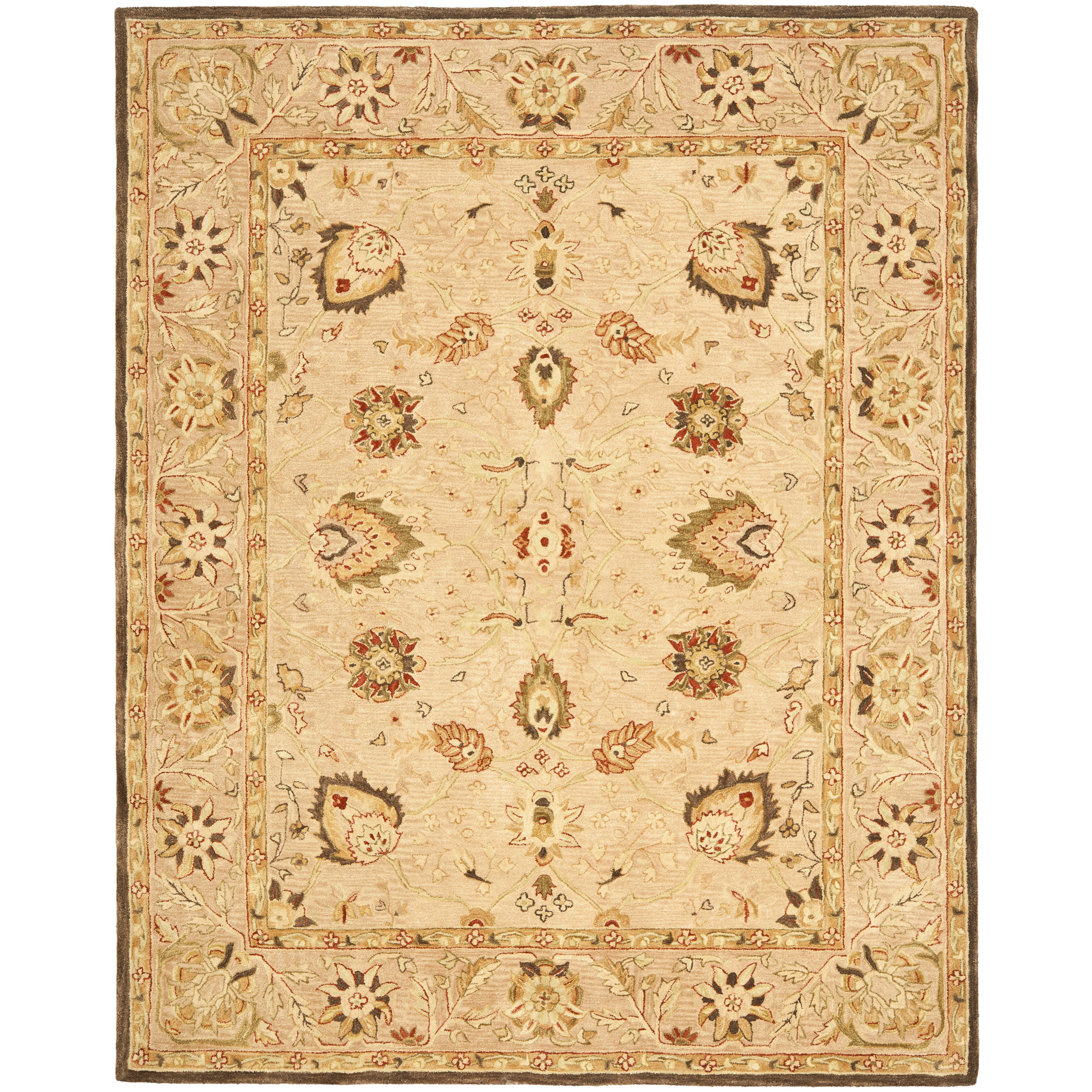Dog Eating Wool Rug: Safavieh Anatolia Beige Area Rug & Reviews