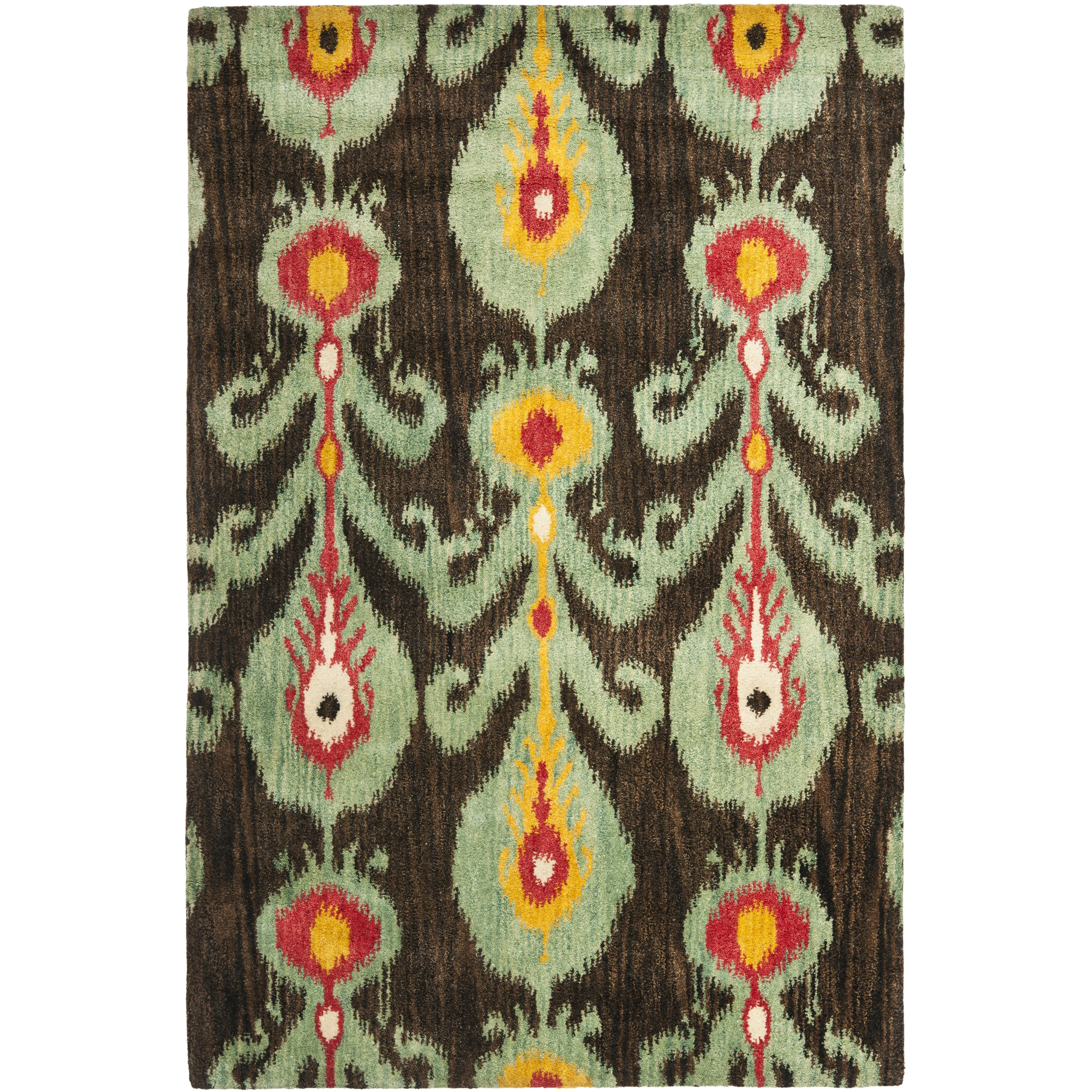 Dog Eating Wool Rug: Safavieh Ikat Area Rug & Reviews
