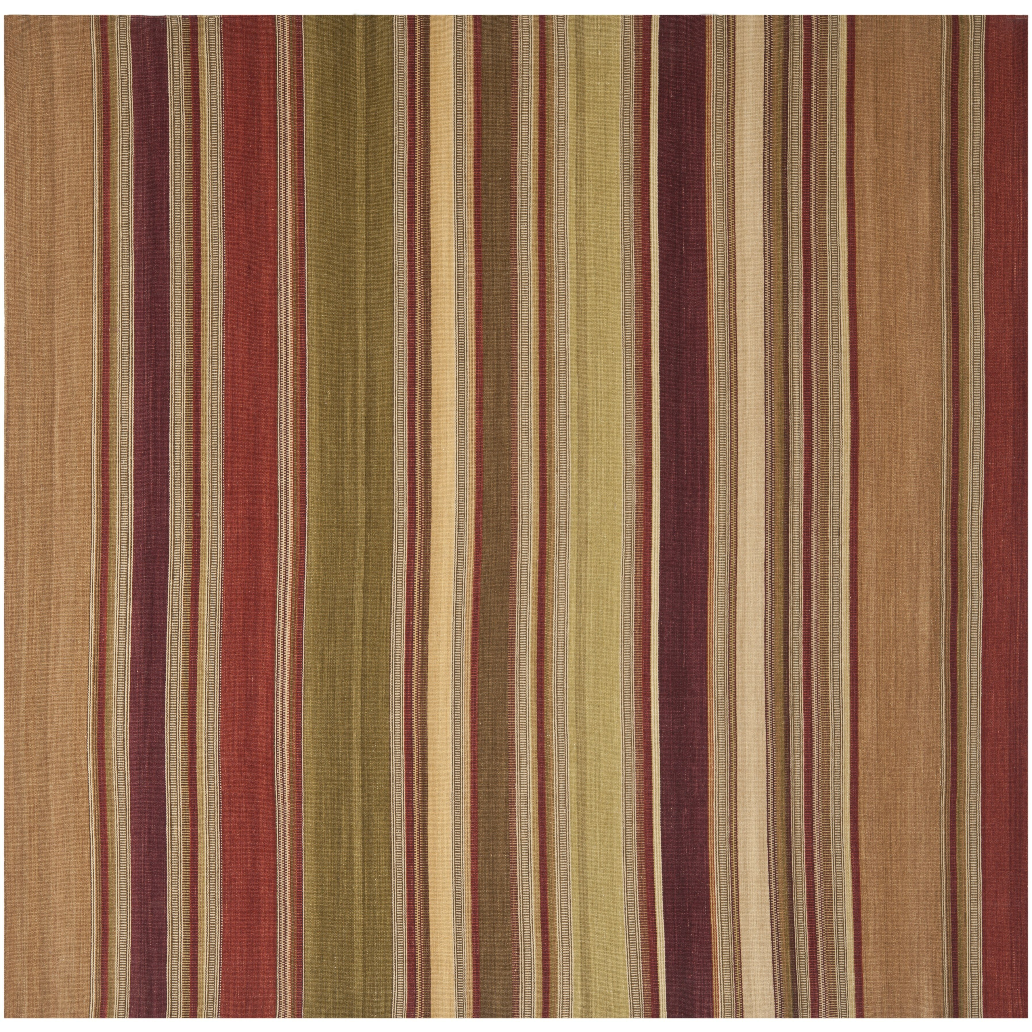 Safavieh striped kilim red rug reviews wayfair for Red and white striped area rug