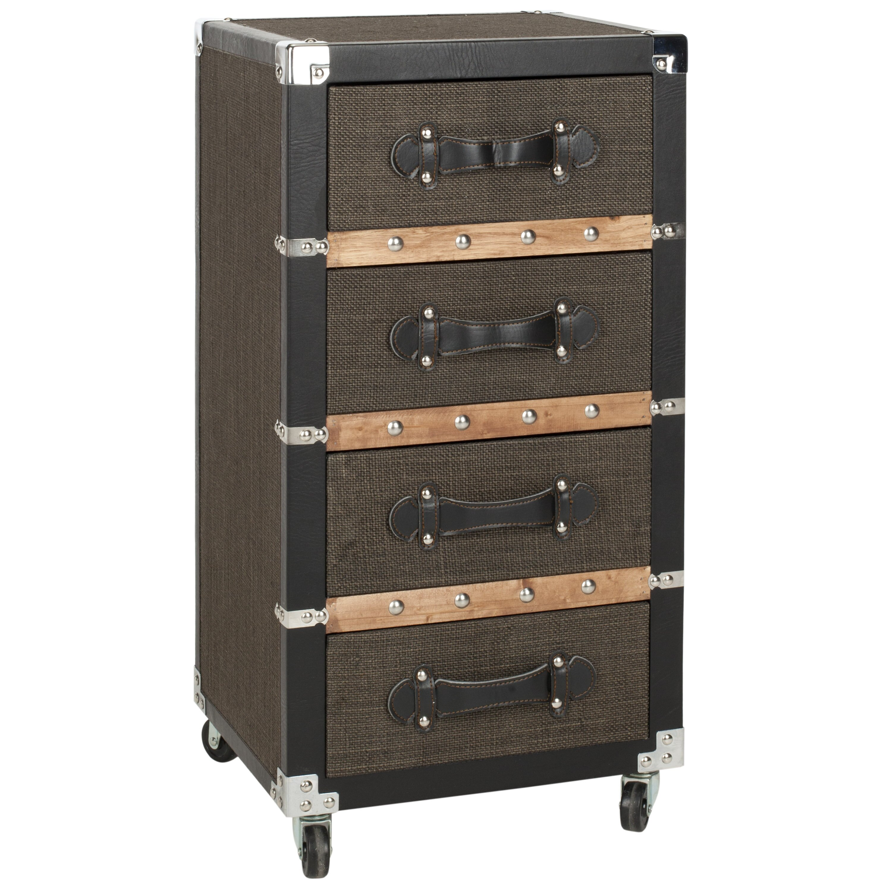 Safavieh Brent 4 Drawer Rolling Chest Amp Reviews Wayfair