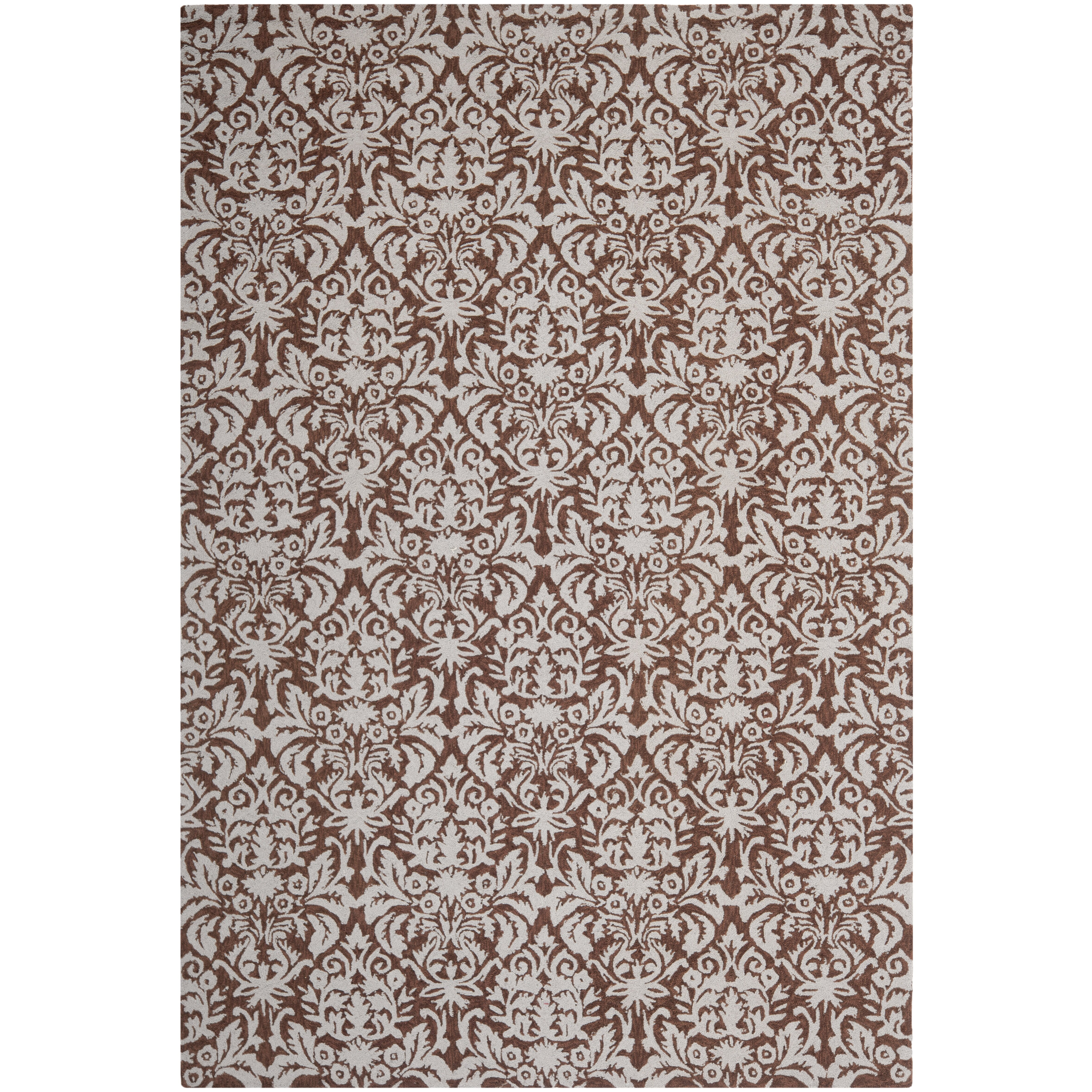 Safavieh chelsea brown gray rug reviews wayfair for Grey and tan rug