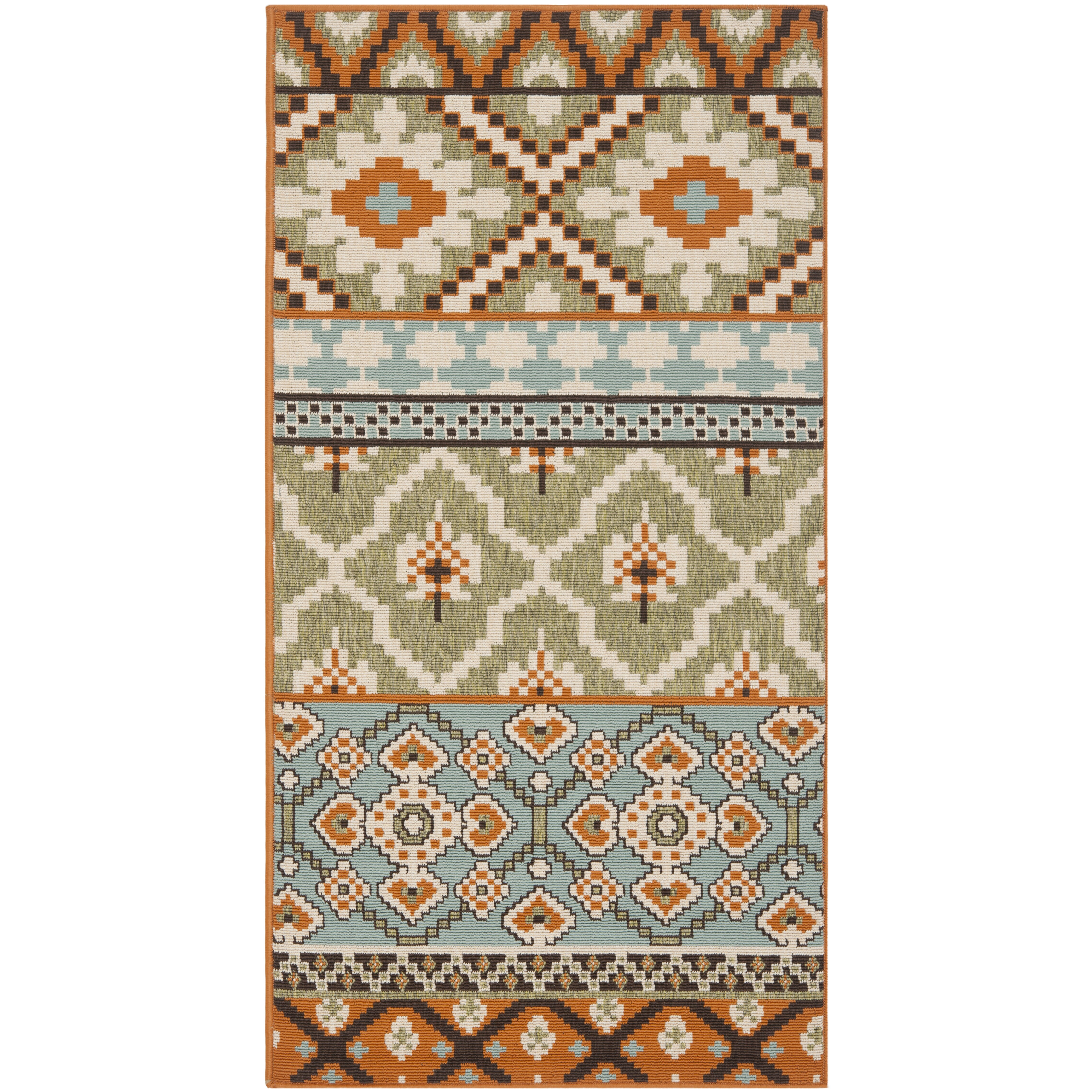 Area Rugs Wayfair: Safavieh Veranda Green/Terracotta Area Rug & Reviews