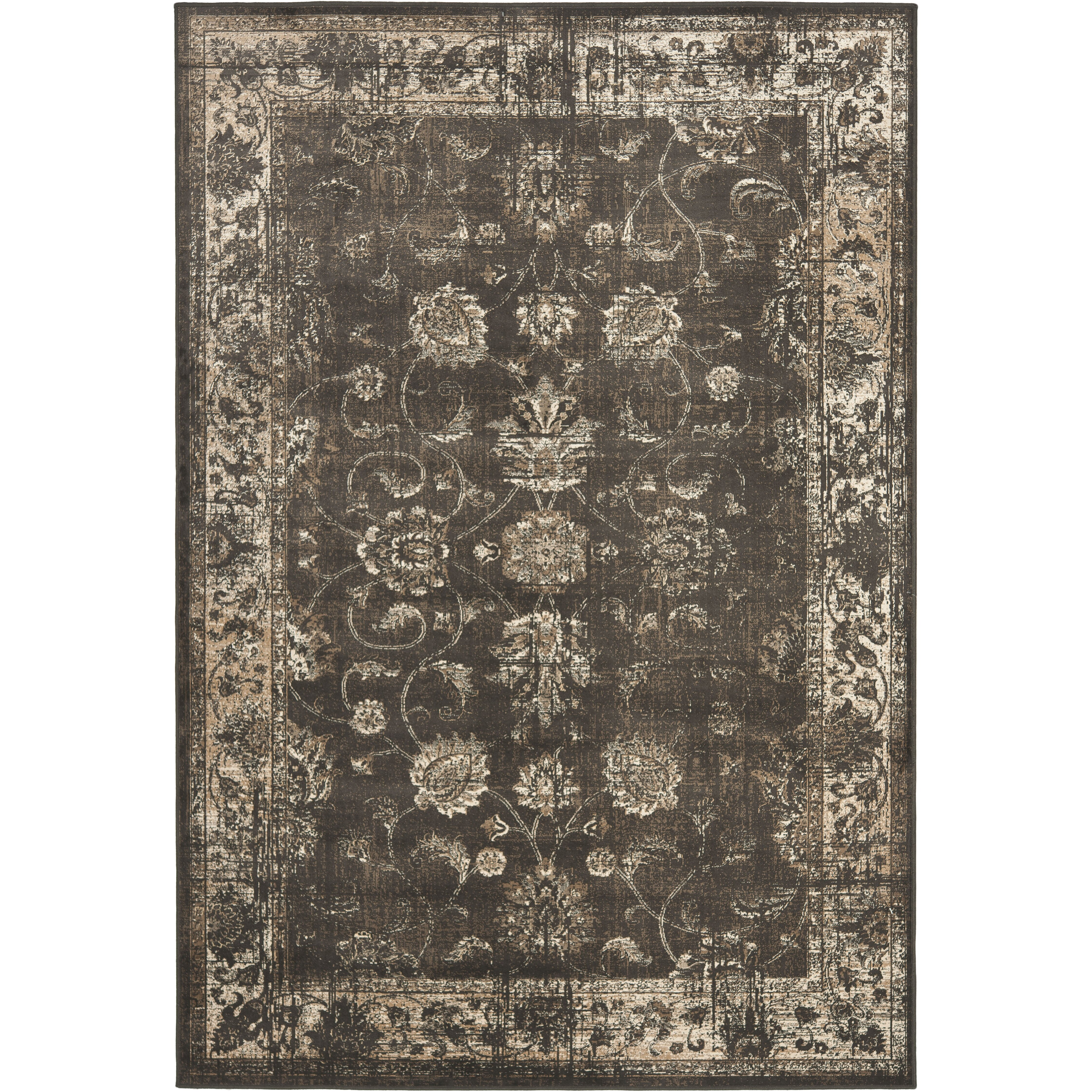 Safavieh vintage soft anthracite area rug reviews wayfair for Soft area rugs