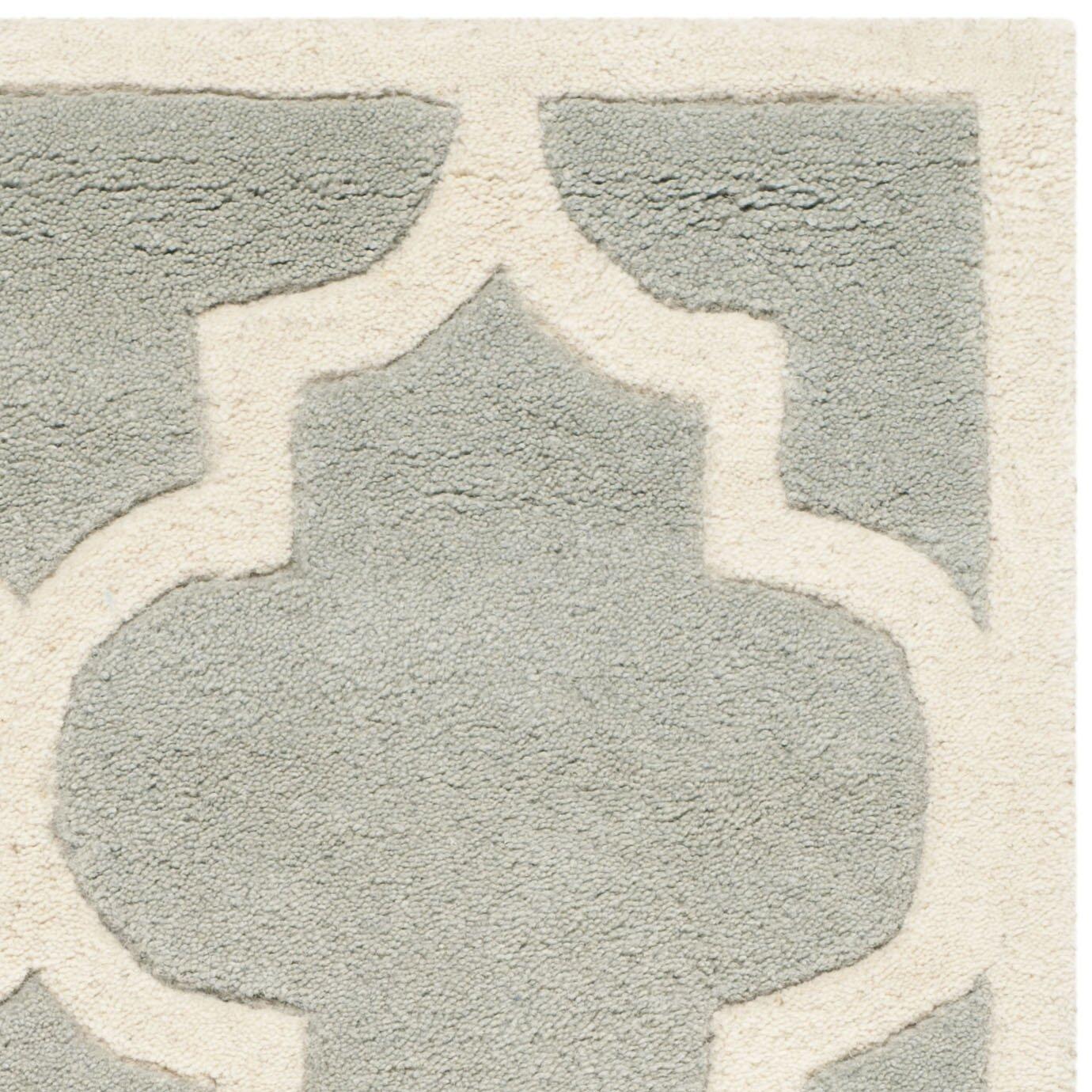 Safavieh Chatham Gray / Ivory Moroccan Rug & Reviews