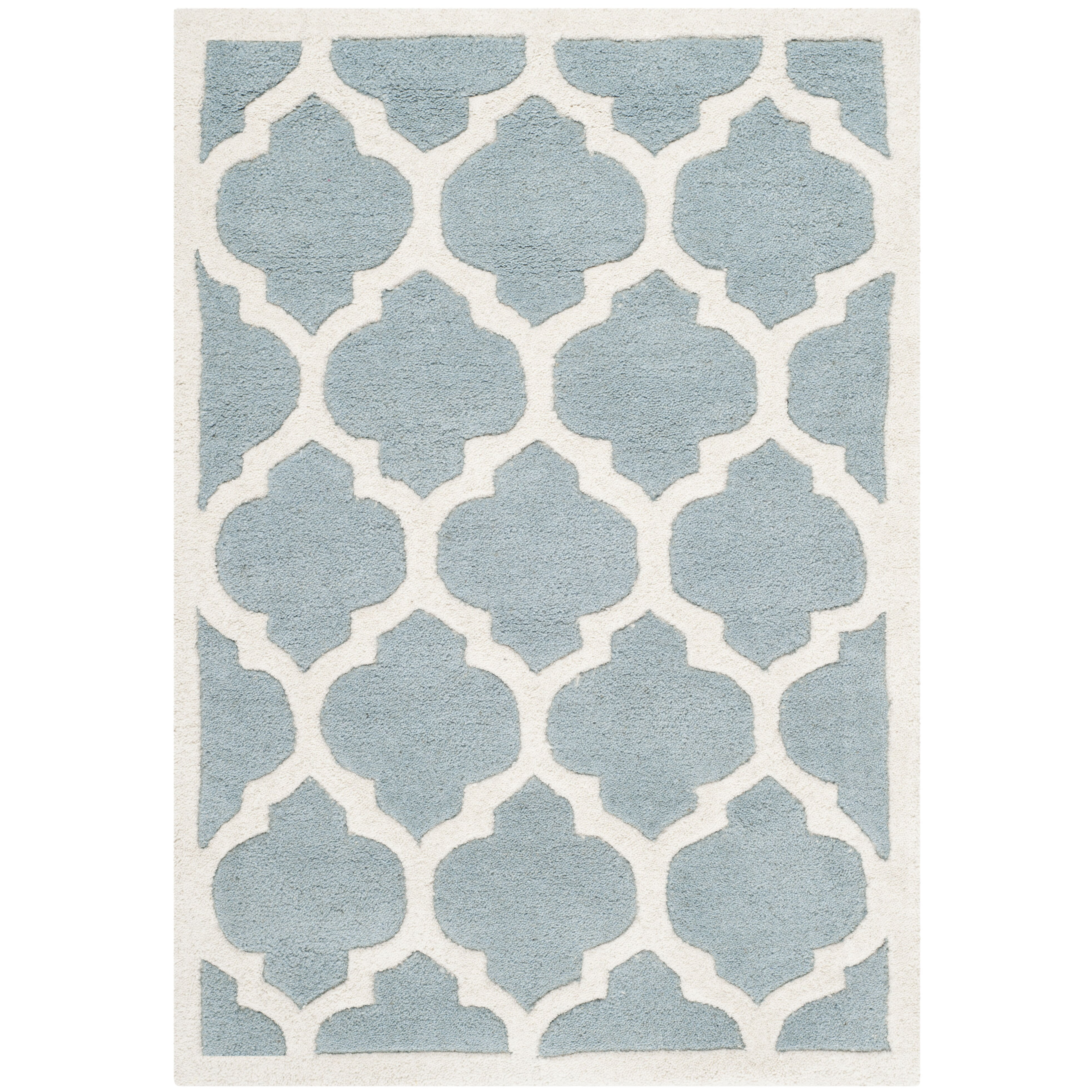 Safavieh Chatham Blue & Ivory Moroccan Area Rug & Reviews