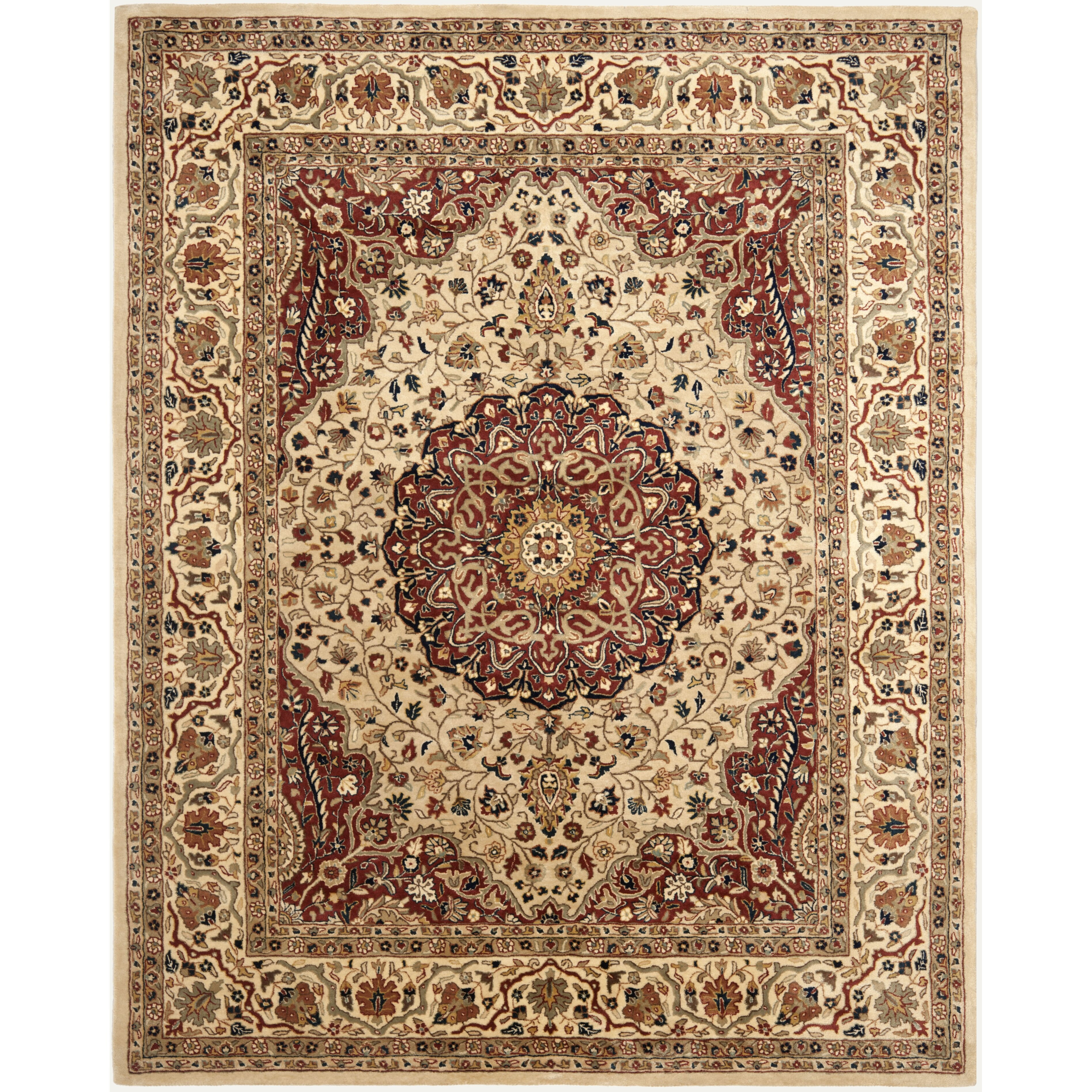 Area Rug Persian 9x12 Oriental Carpet Ivory Wool: Safavieh Persian Legend Ivory/Red Area Rug & Reviews