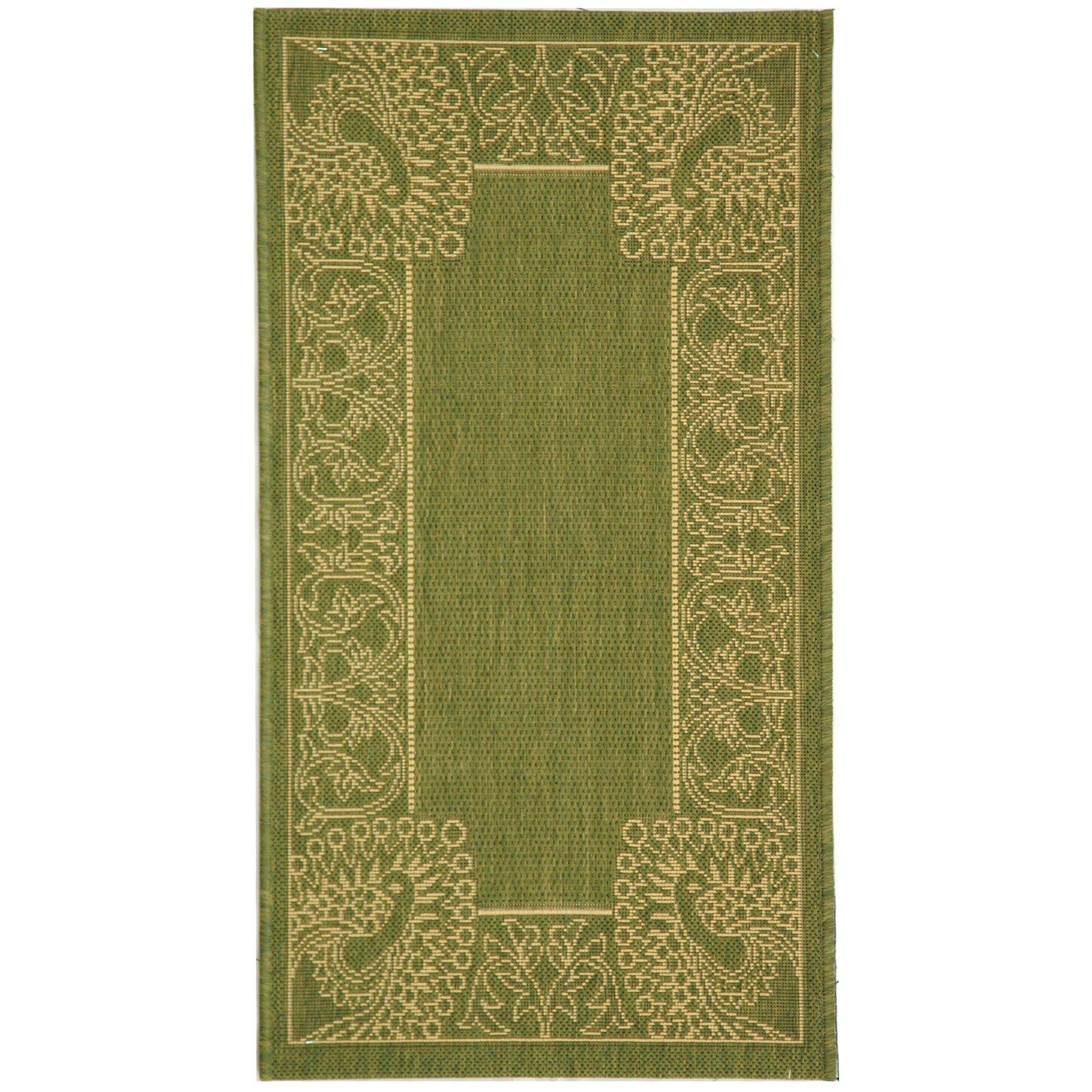 Safavieh courtyard olive natural rug reviews wayfair for Safavieh rugs