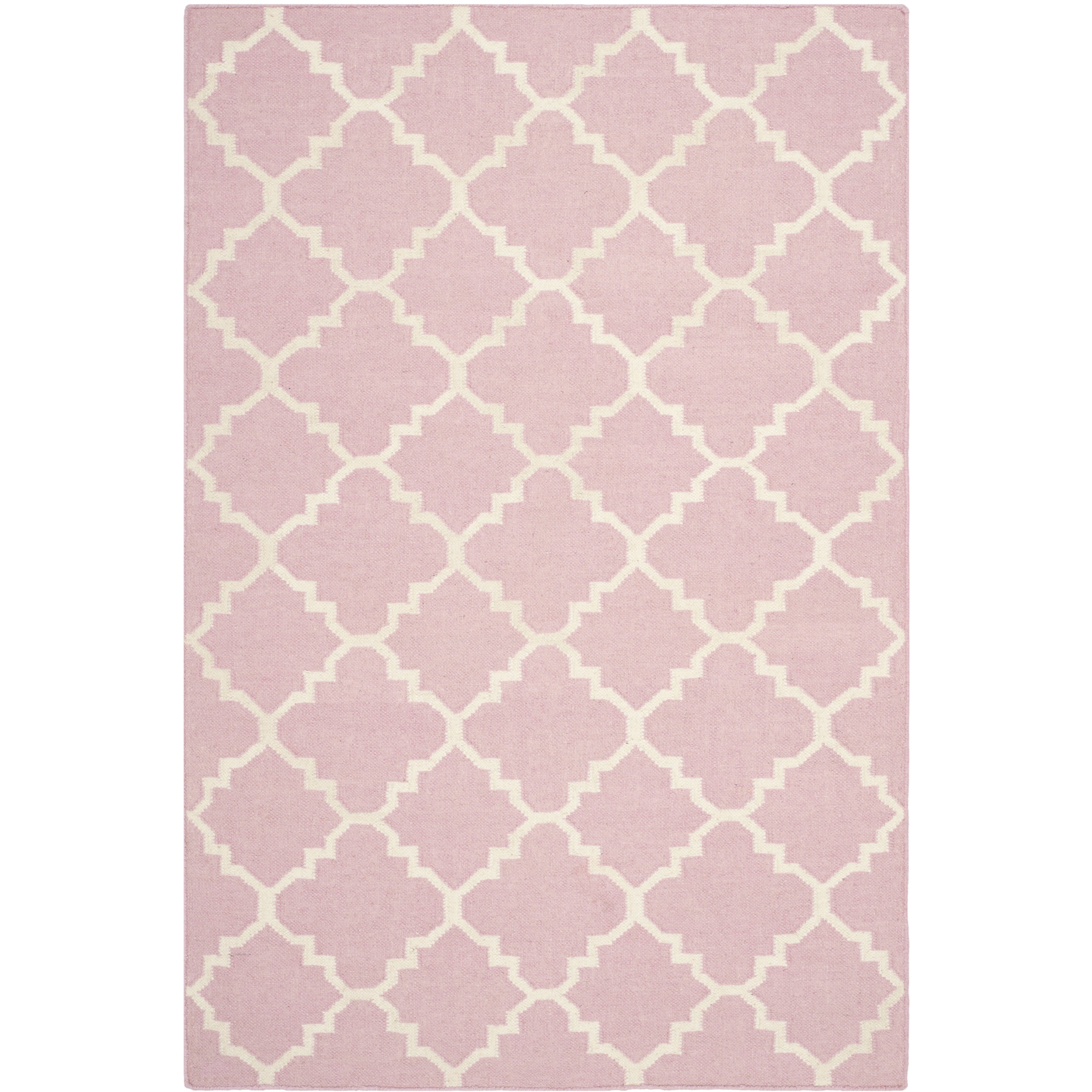 safavieh dhurries pinkivory area rug cheerful home office rug wayfair safavieh