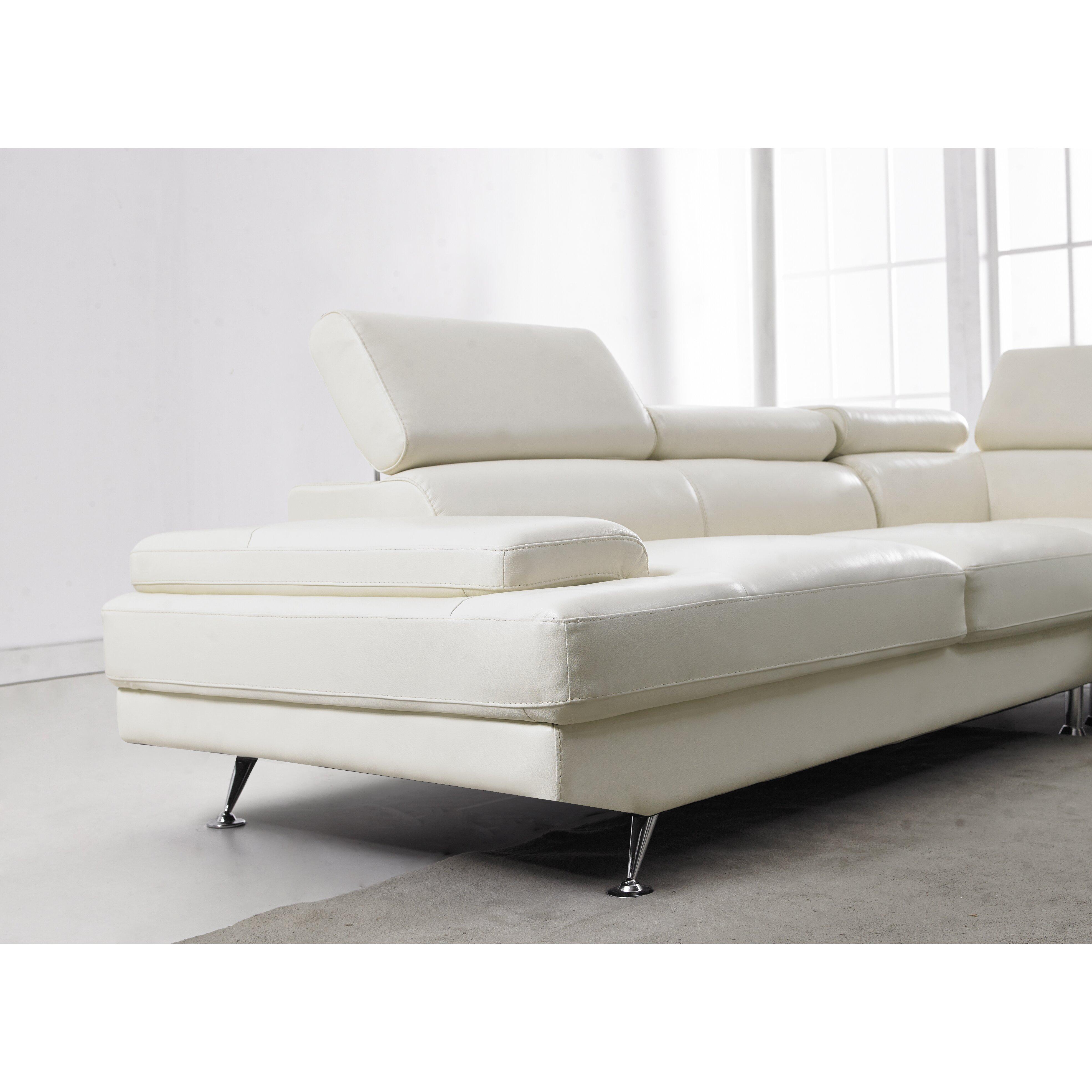 Daviddivanidesigns leather sectional wayfair for White sectional sofa wayfair