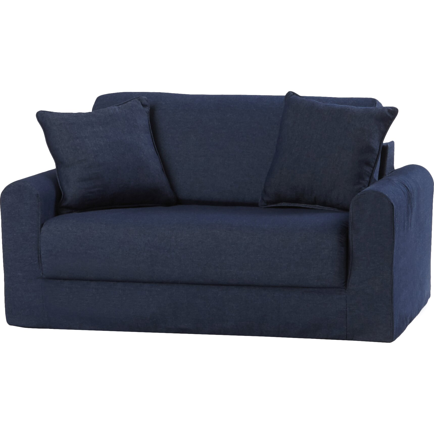 Fun Furnishings Children 39 S Suede Sofa Sleeper Reviews Wayfair
