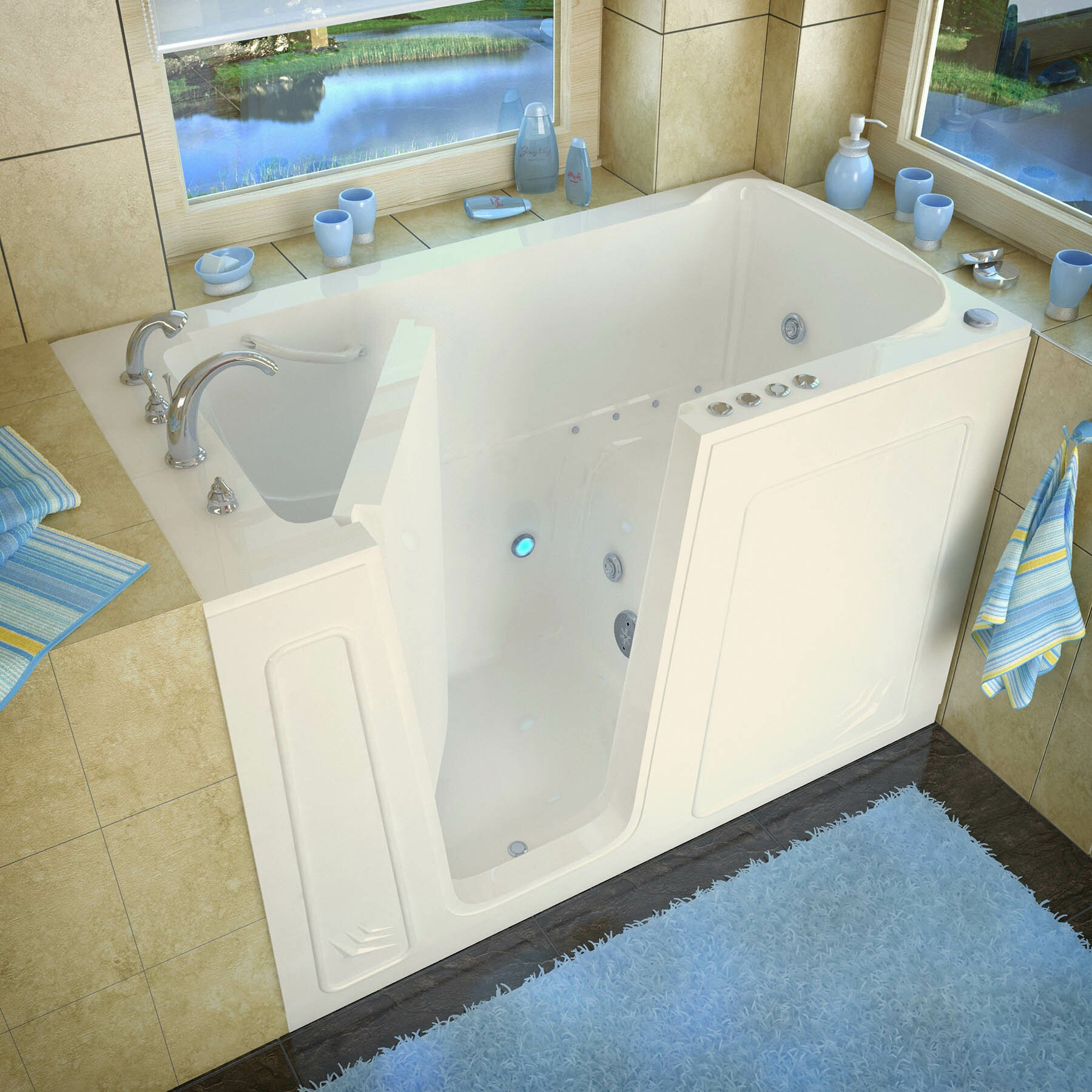 Therapeutic Tubs Aspen 60 X 32 Whirlpool Air Jetted Bathtub