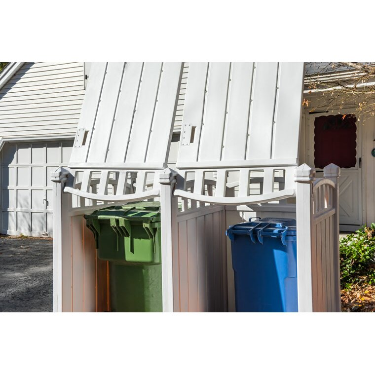 1000 Images About Garbage Can Shed On Pinterest: RubbishWrap 6 Ft. W X 4 Ft. D Plastic Garbage Shed