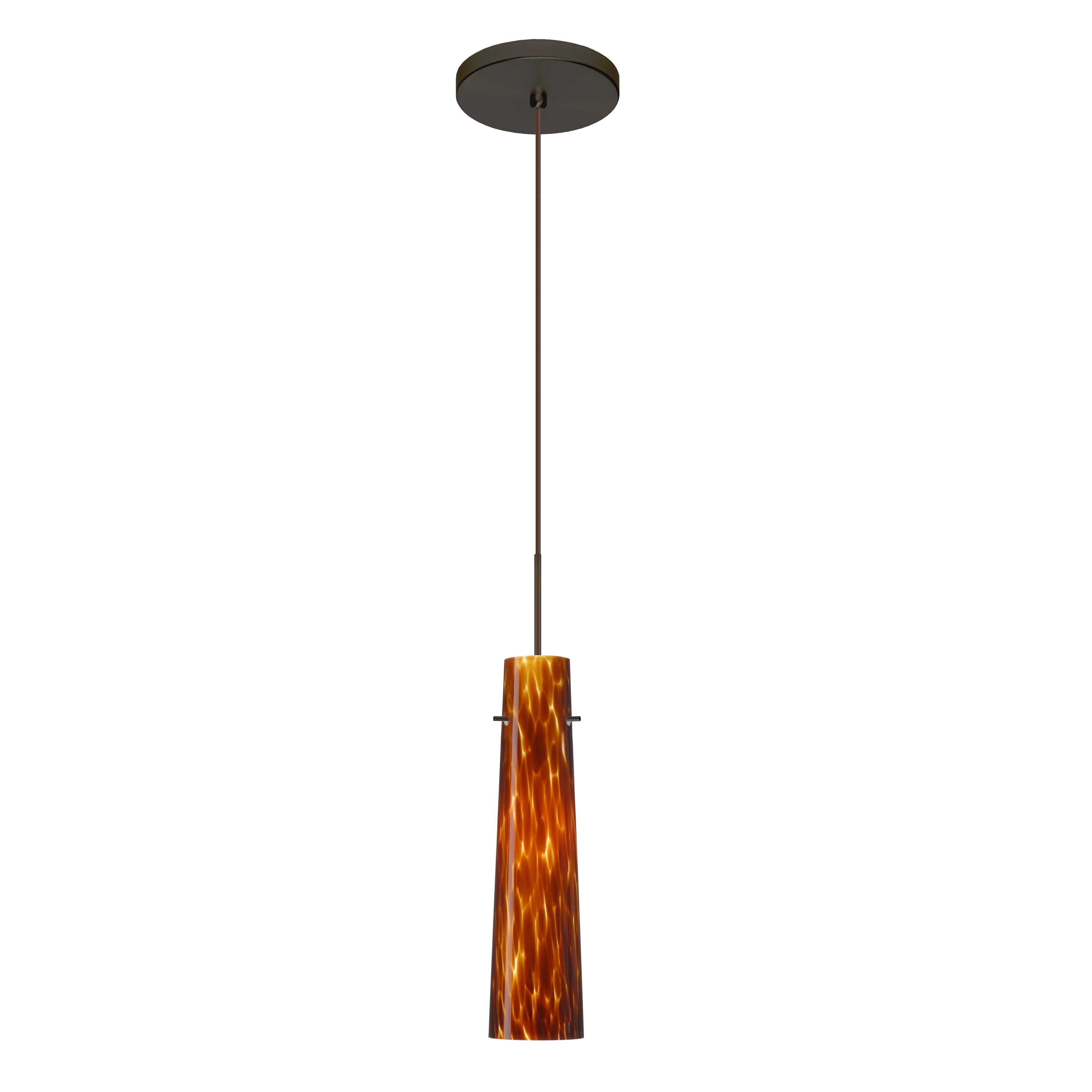 besa lighting camino 1 led integrated bulb mini pendant wayfair