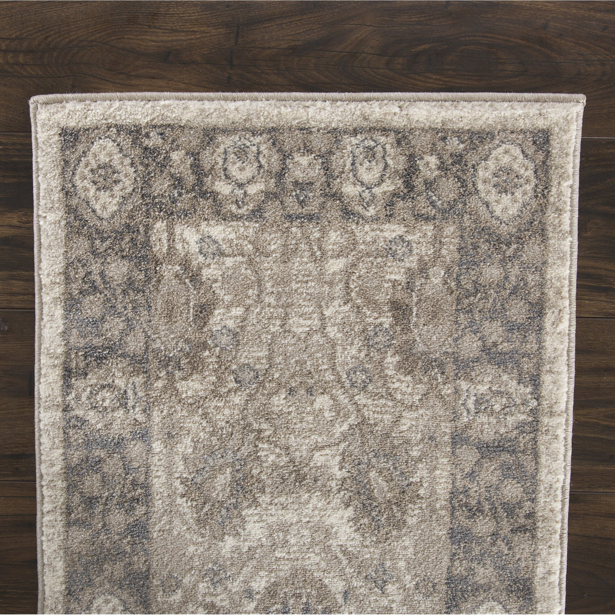 Plyh Vintage Gray Beige Area Rug Wayfair