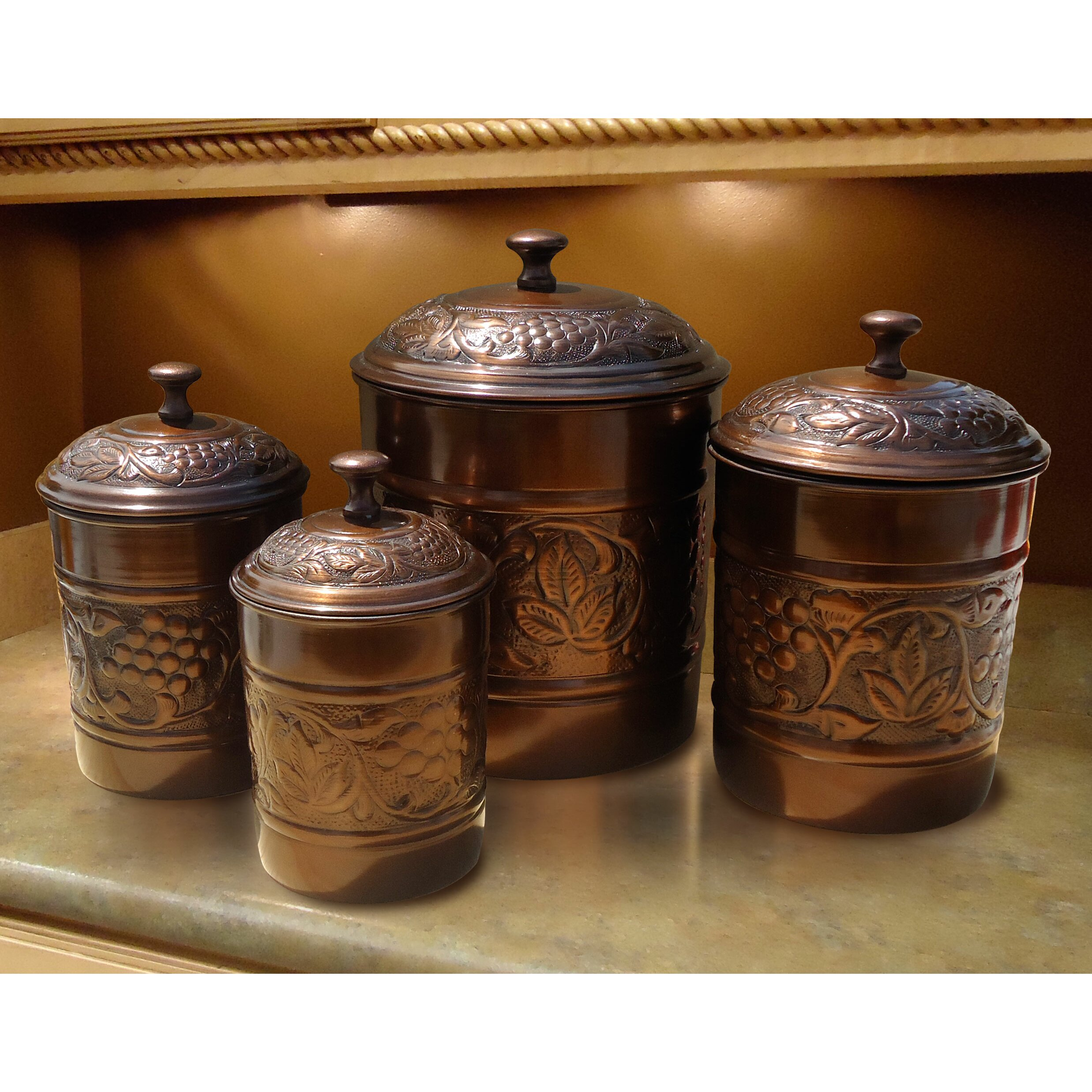 canisters set of 4 old dutch heritage 4 piece canister set reviews wayfair