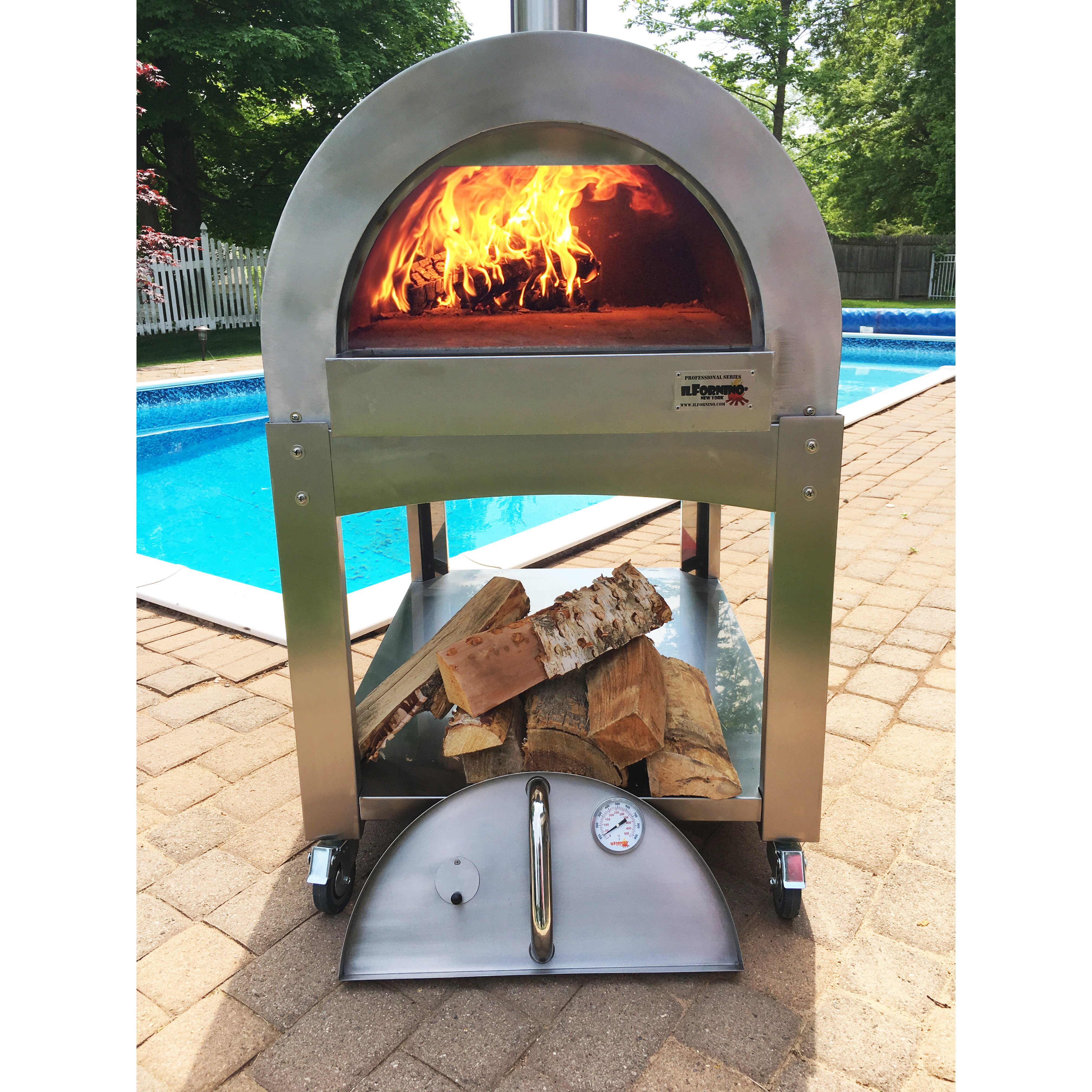 Home Wood Oven ~ Ilfornino professional series wood burning pizza oven