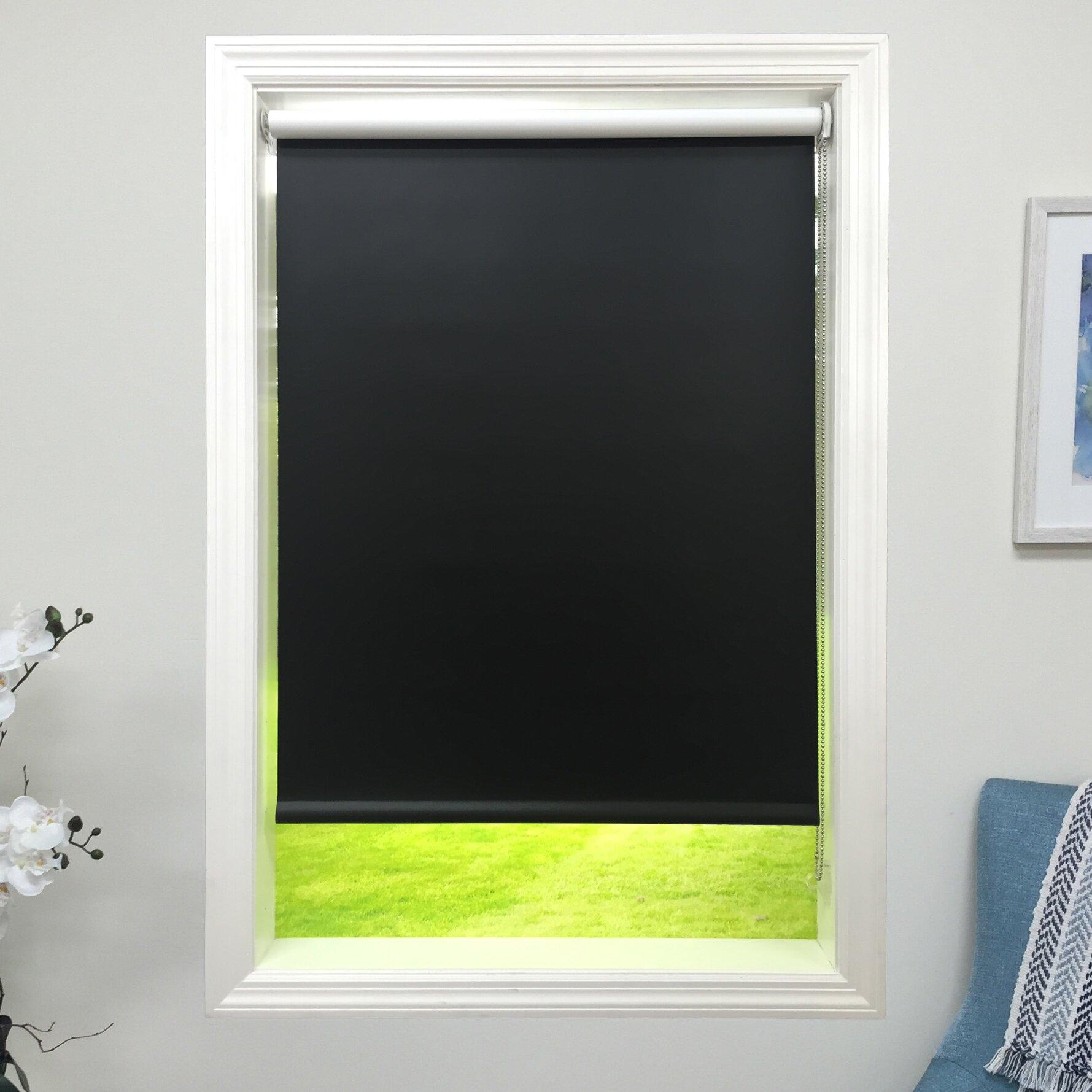 harbor shades blackout roller shade wayfair. Black Bedroom Furniture Sets. Home Design Ideas