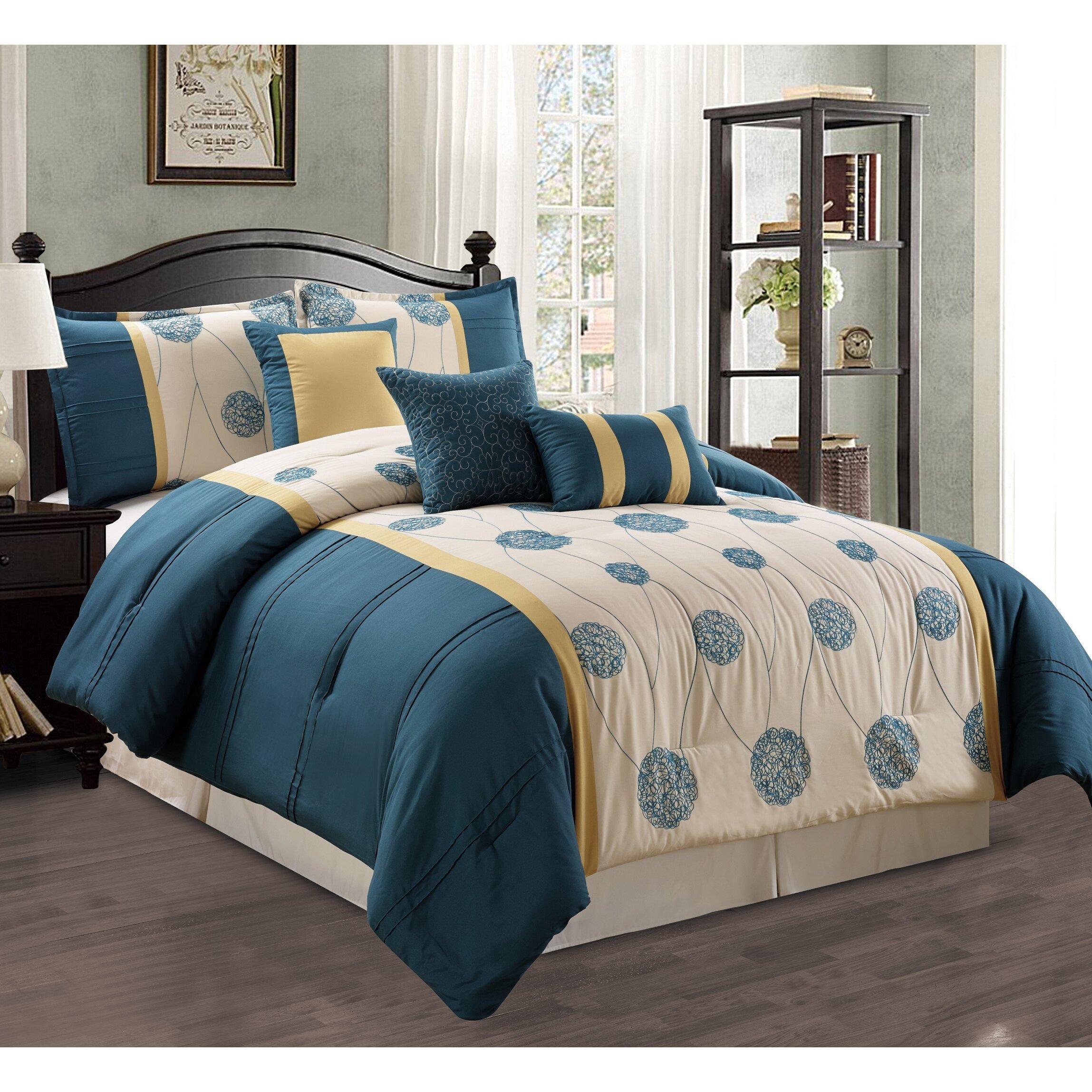 morgan home elizabeth 7 piece comforter set