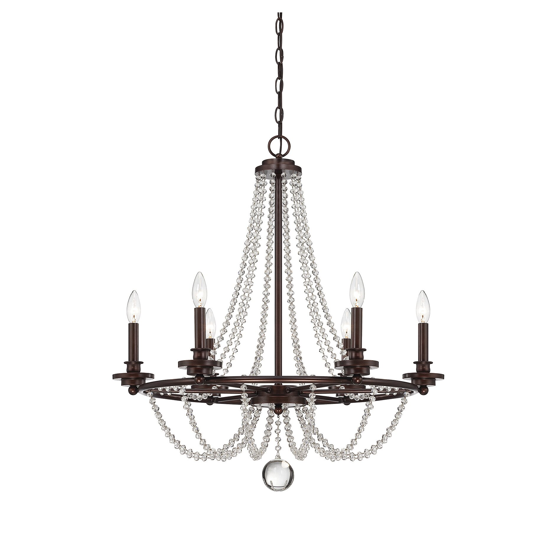 Wayfair Chandelier: Savoy House Byanca 6 Light Candle Chandelier & Reviews