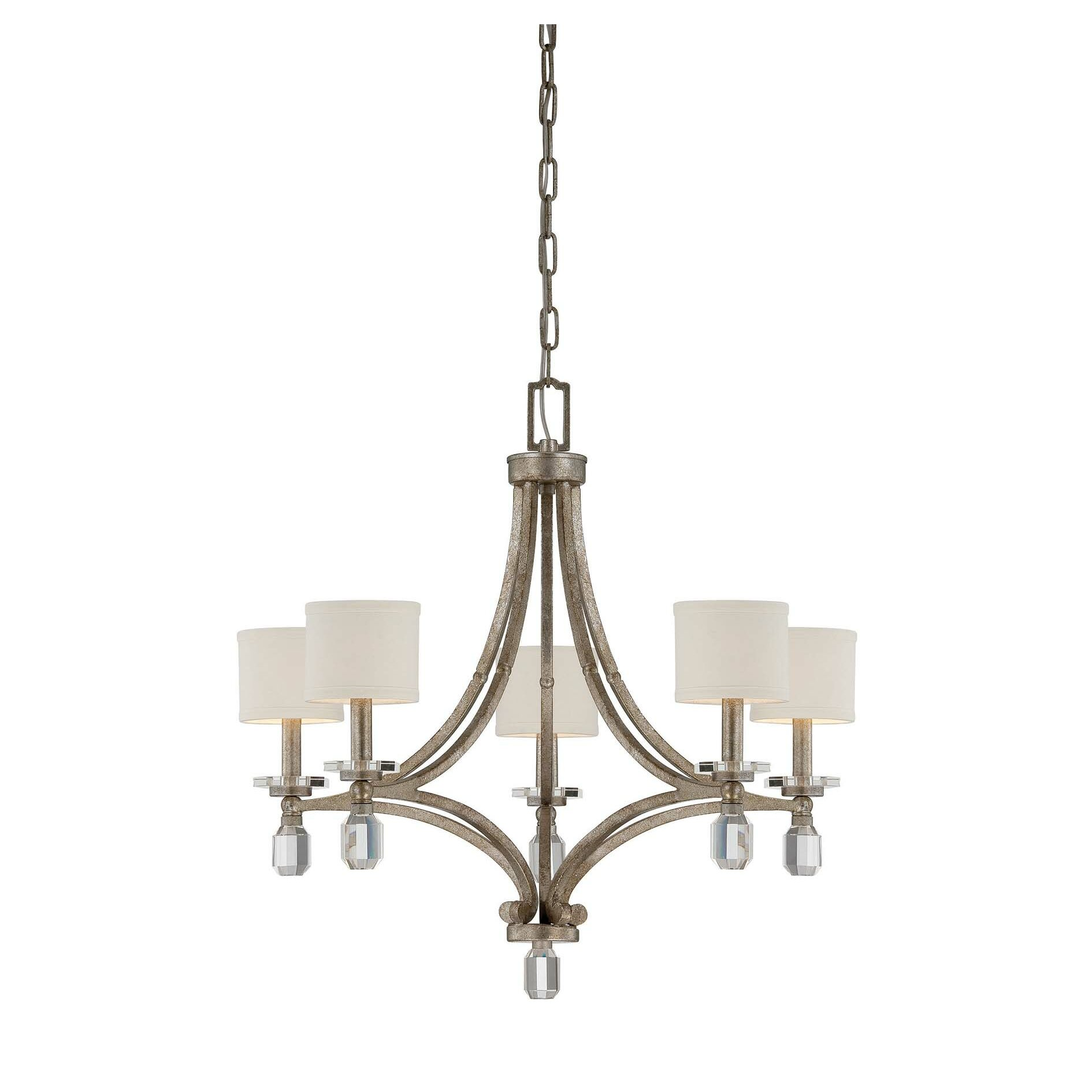 Savoy house filament 5 light chandelier wayfair for Savoy house