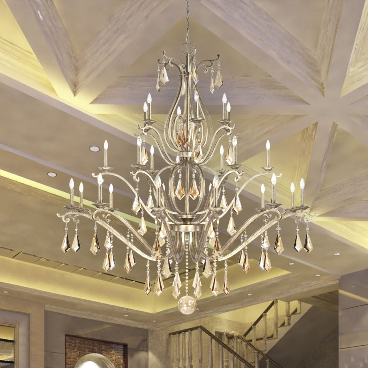 Savoy House Rothchild 24 Light Candle Chandelier Wayfair