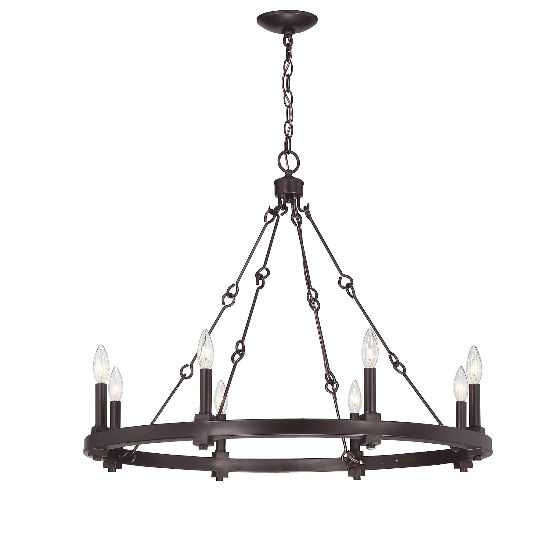 Laurel Foundry Modern Farmhouse Montreal 8 Light Candle Chandelier & Reviews