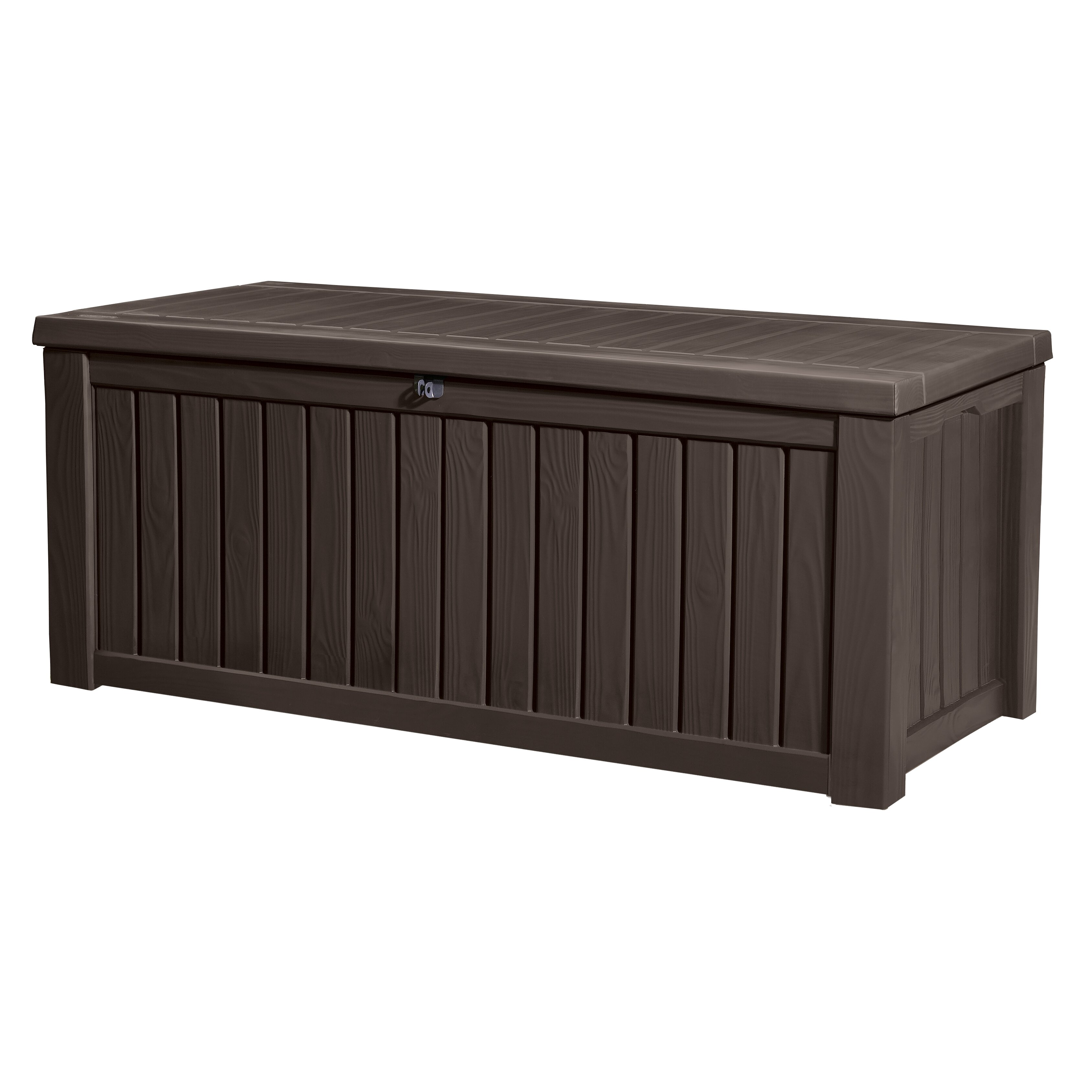 Keter rockwood 150 gallon plastic deck box reviews for Wayfair garden box